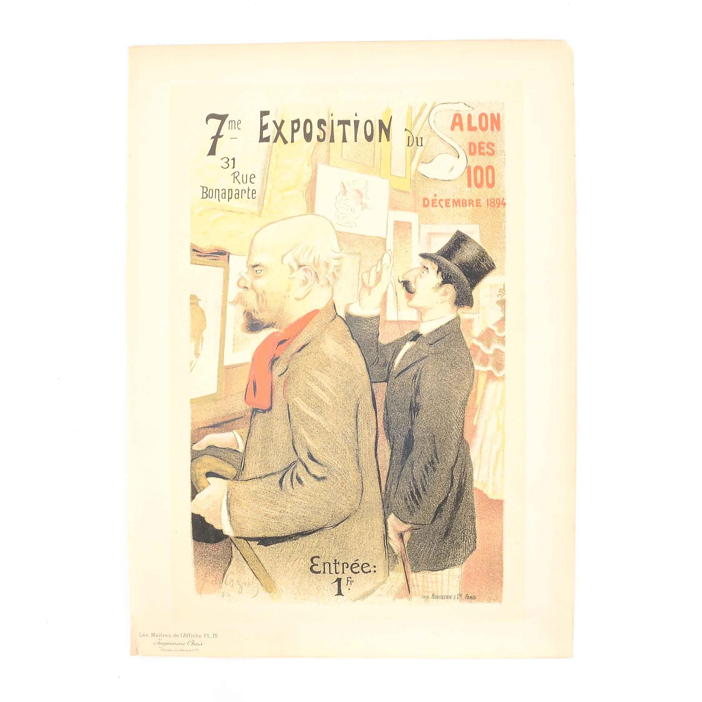 """Antique """"Les Maitres de l'Affiche"""" Lithograph after Frédéric-Auguste Cazals"""
