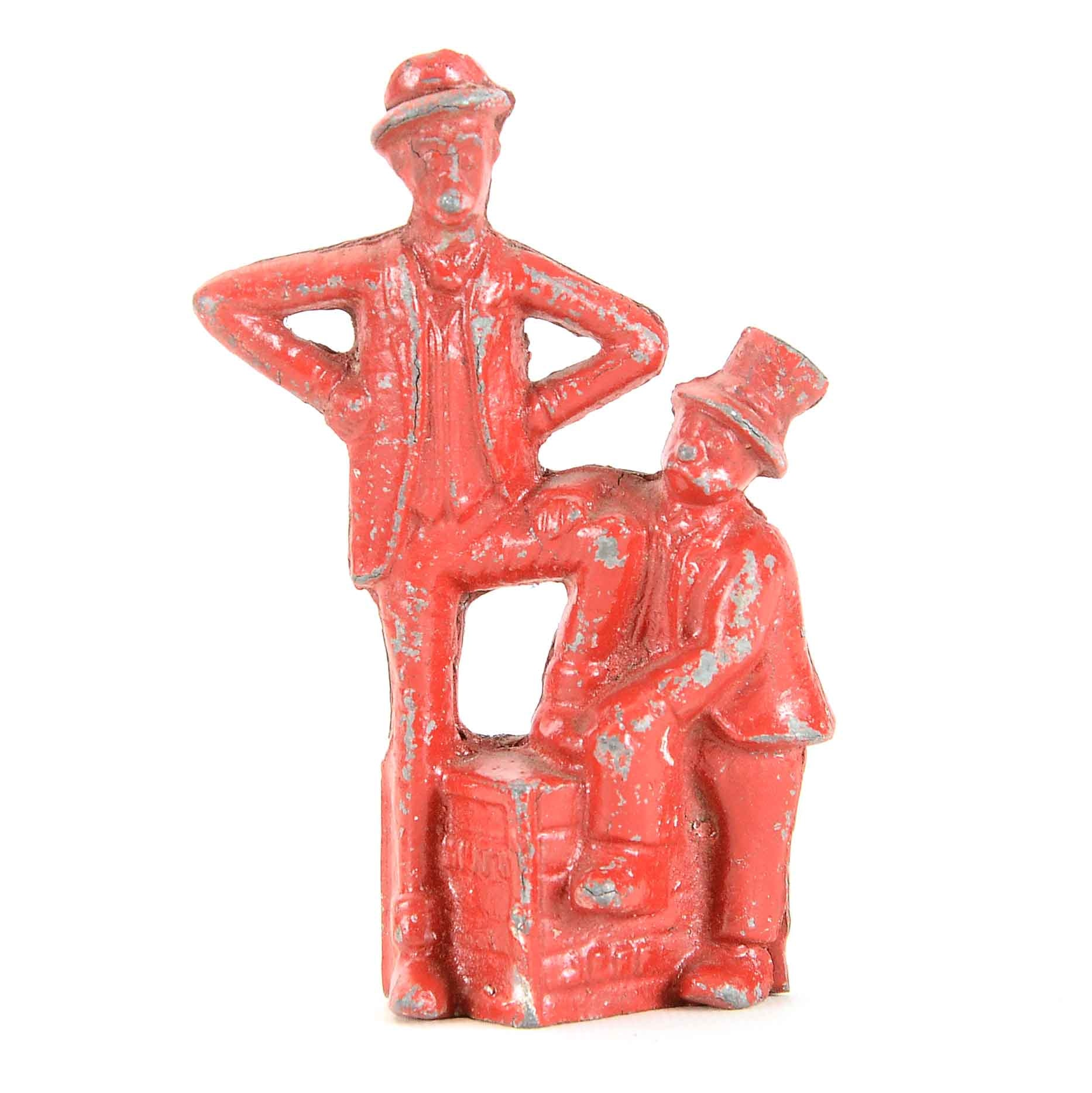 "Early 1900s ""Mutt and Jeff"" Cast Iron Still Bank"