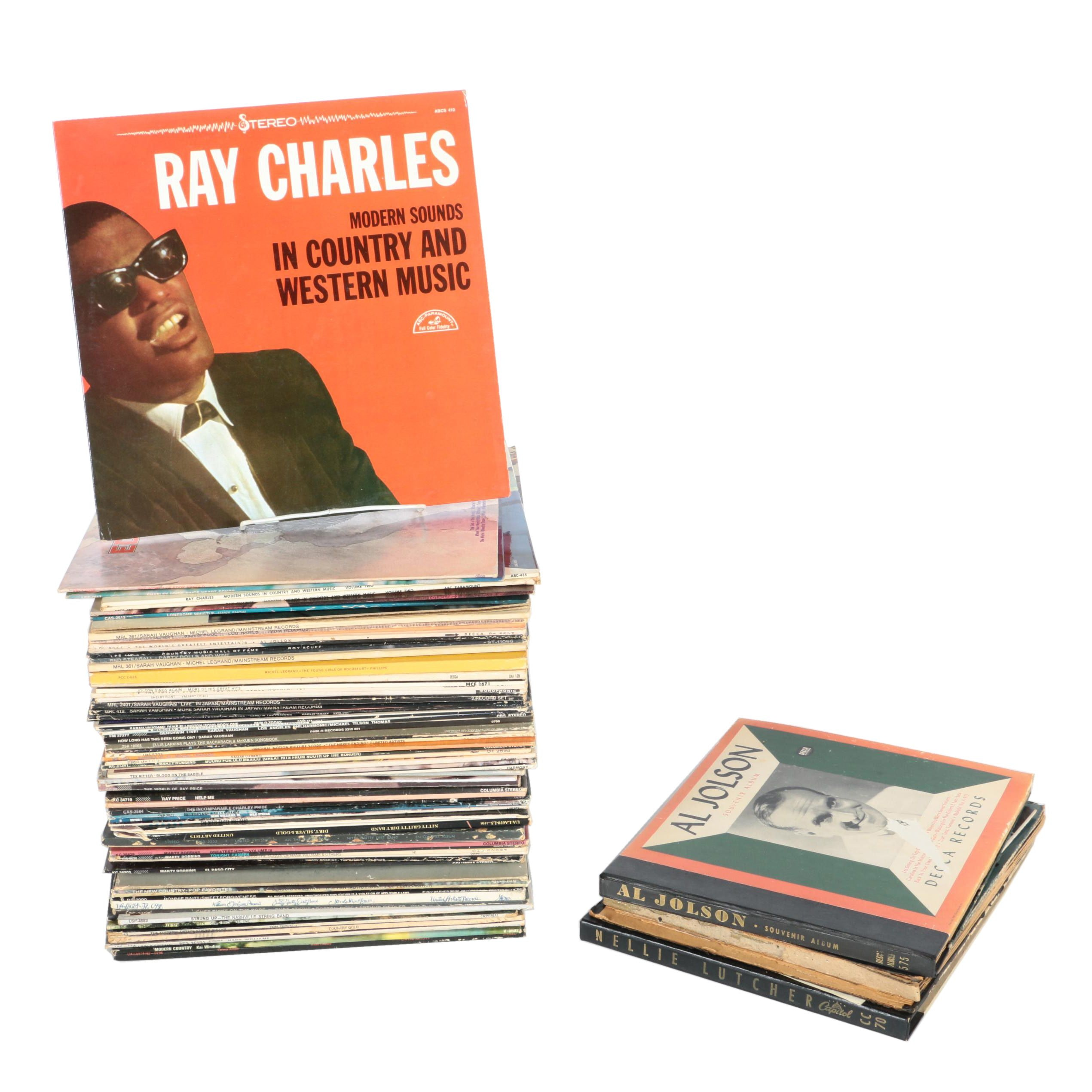 Sarah Vaughan, Tex Ritter, Ray Charles and Other Country and Jazz LPs