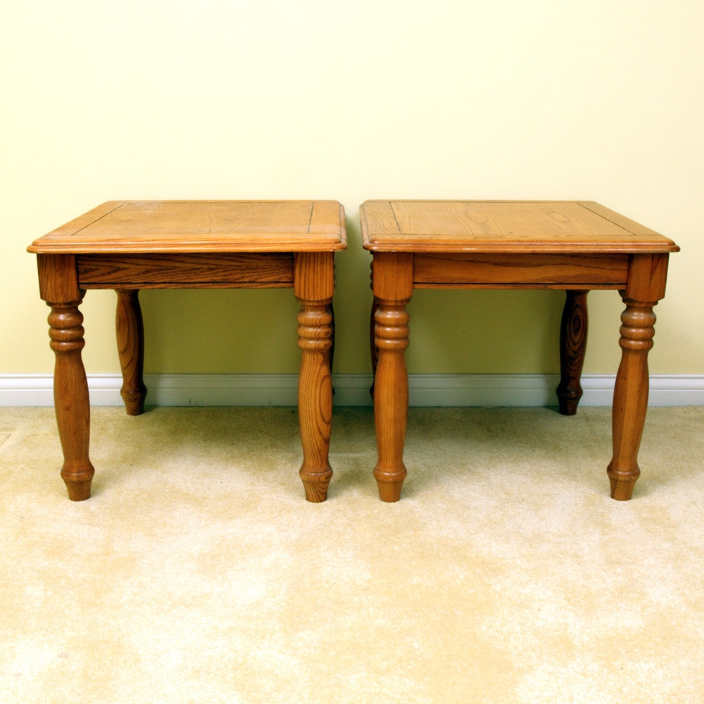 Pair of Country Style End Tables