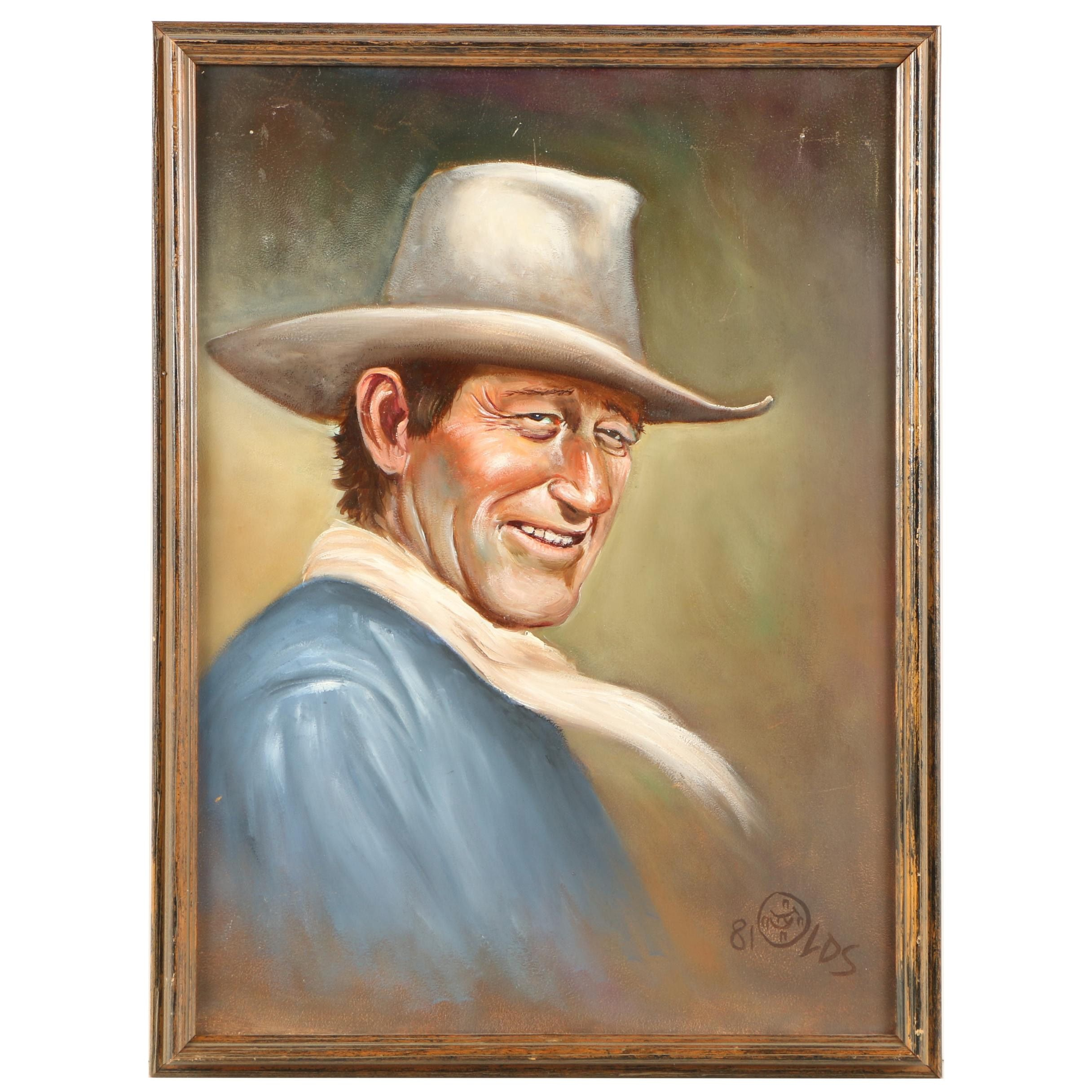 Fred Olds Oil Painting of John Wayne