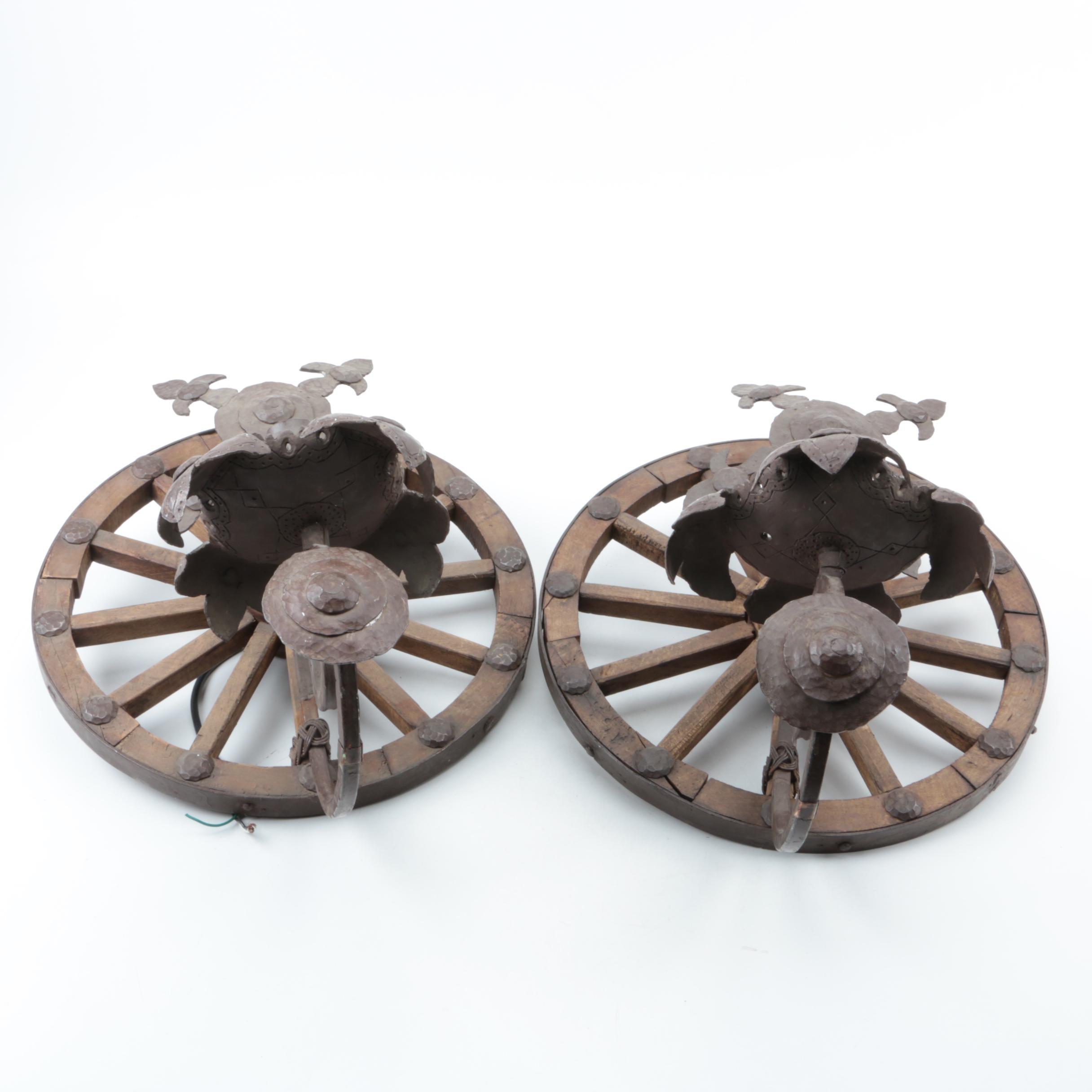 Wagon Wheel Wall Sconces