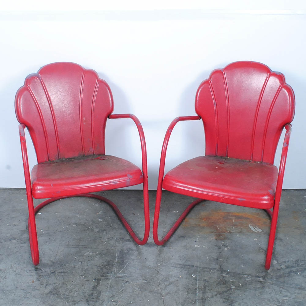 Delicieux Metal Shell Back Patio Chairs ...