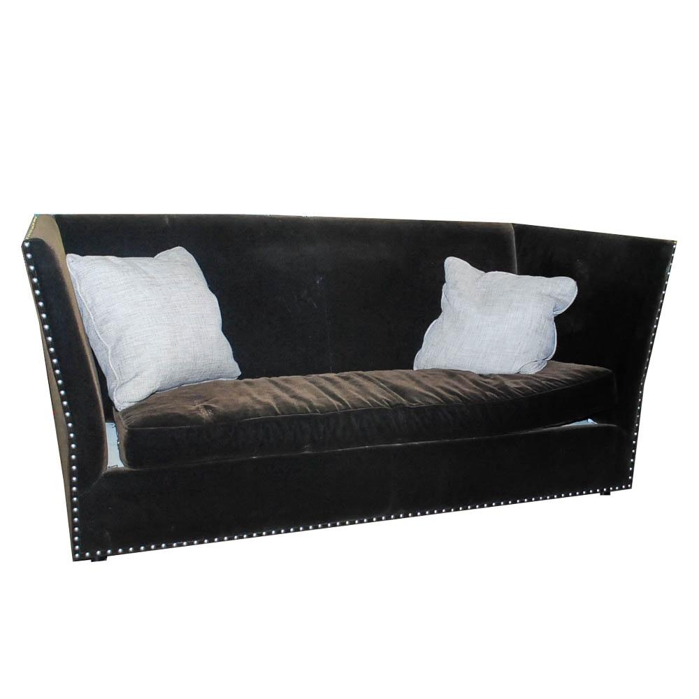 Bernhardt Velvet Knole-Style Sofa