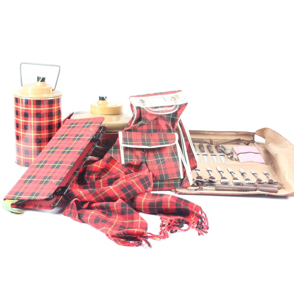 Scotch Tartan Picnic Accessories