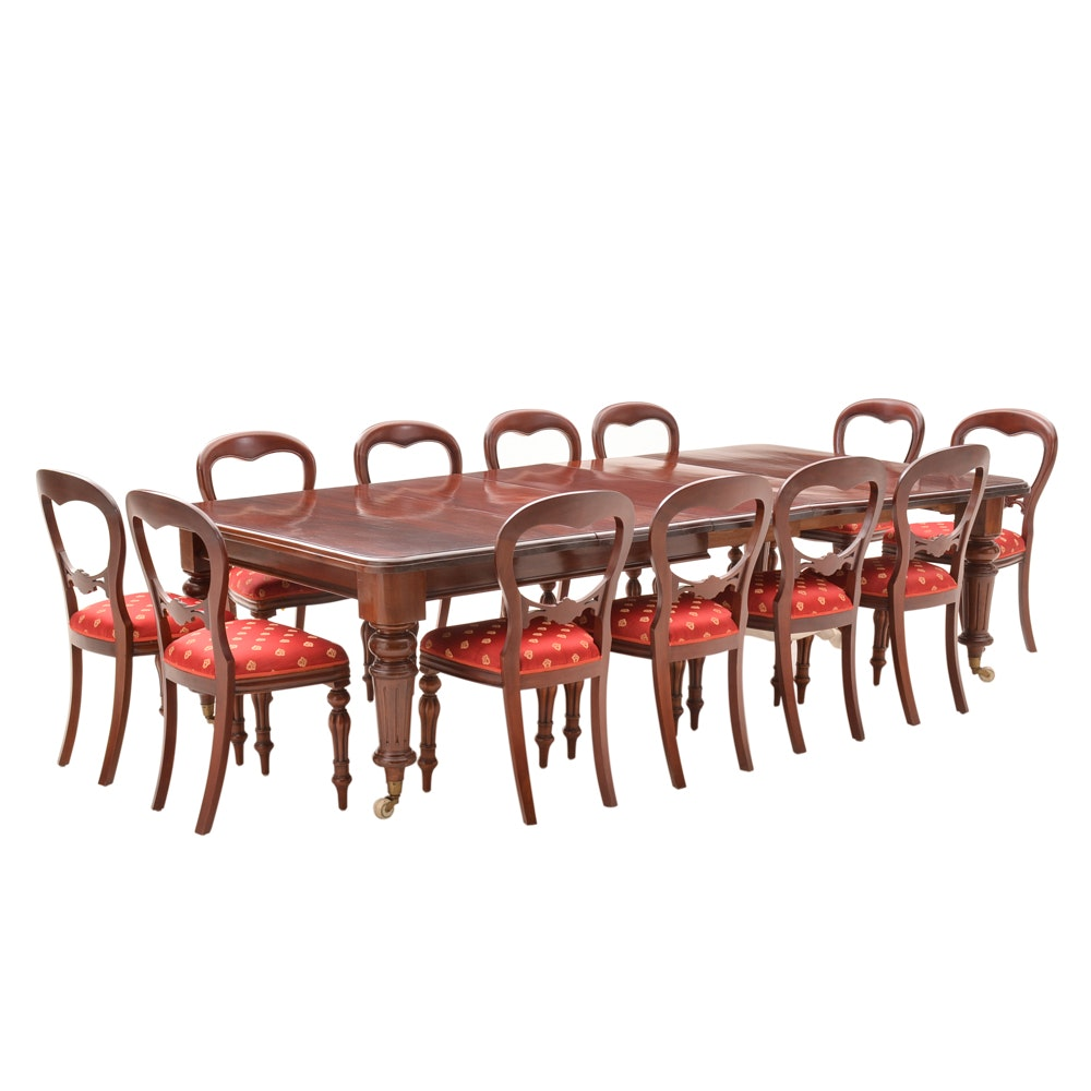 Victorian Mahogany Extension Dining Table and Chairs