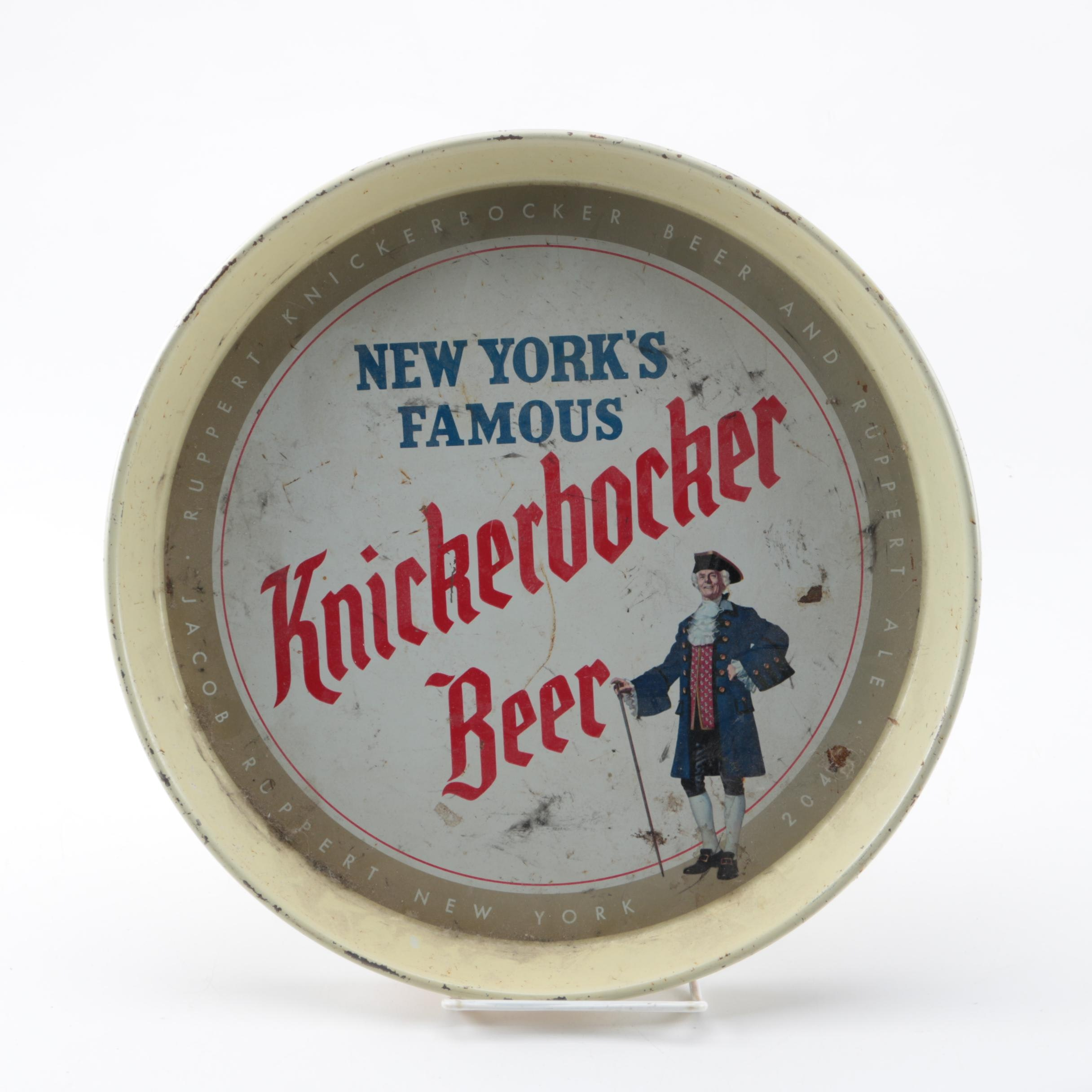 """New York's Famous Knickerbocker Beer"" Tray"