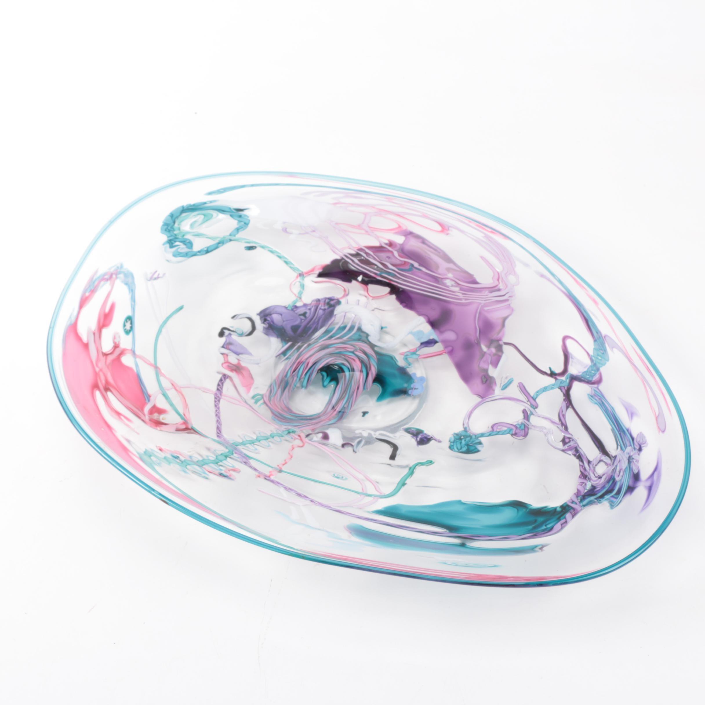 Daniel Gaumer and Stephen Nelson Art Glass Bowl