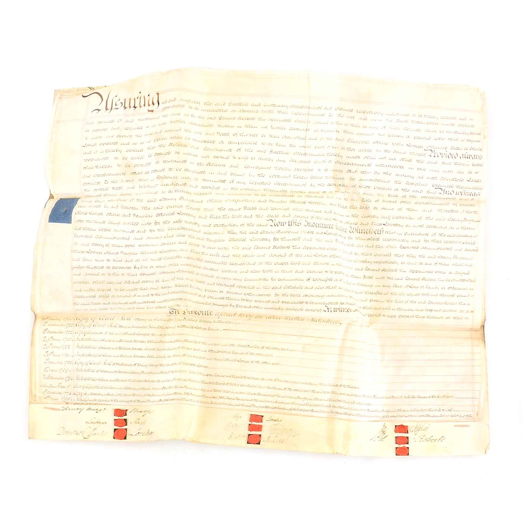 Set of Historic Papers of Indenture