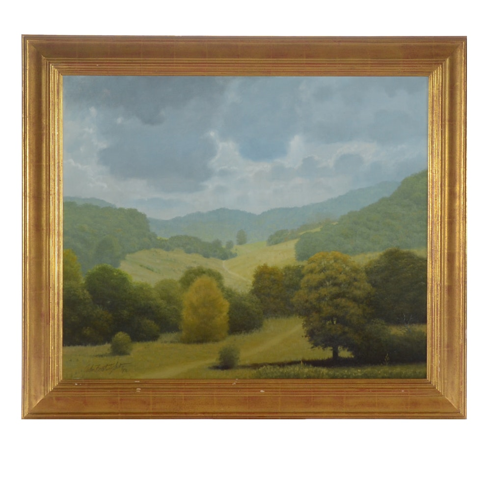 John Boatright Oil Painting of a Landscape
