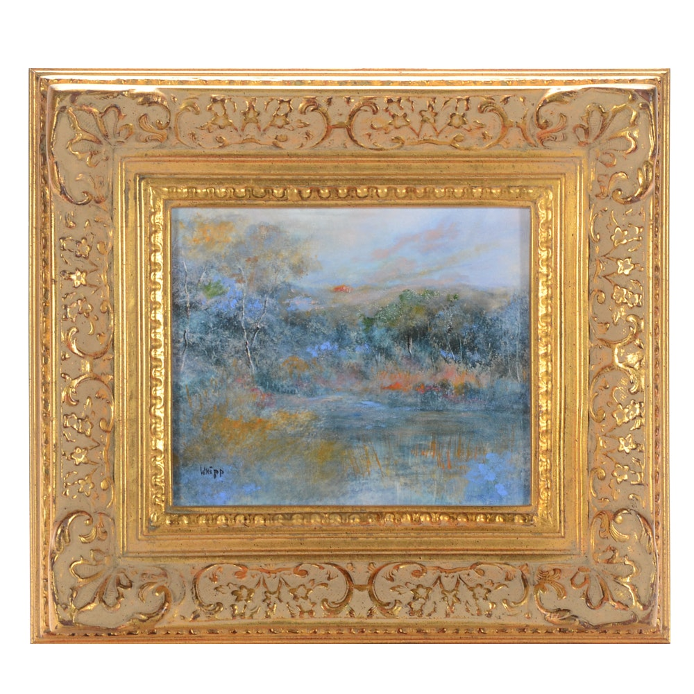 Pat Whipp Oil Painting of a Landscape