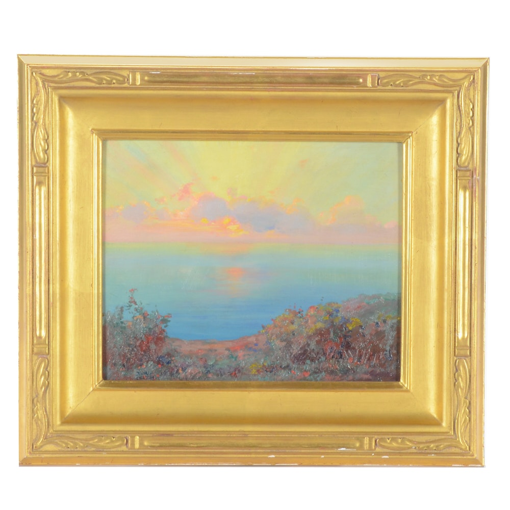 J. W. Orth Oil Landscape Painting on Board