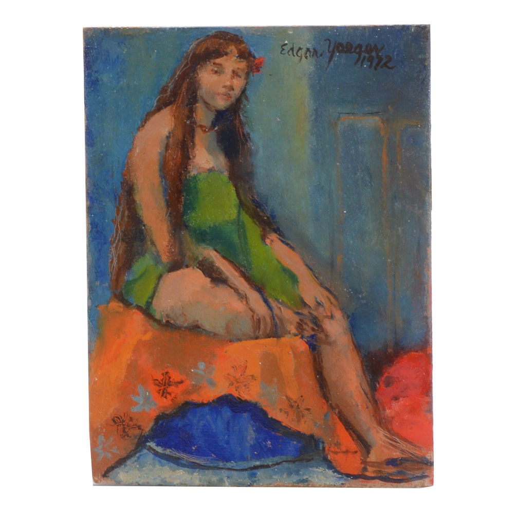 Edgar Yaeger Oil Painting of a Figure