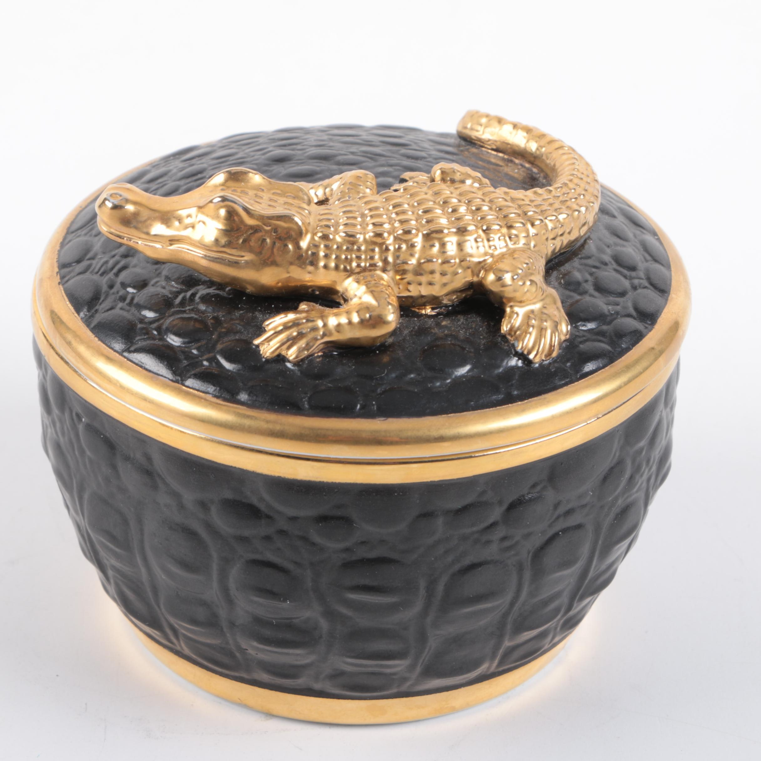 L'Objet Alligator Trinket Box
