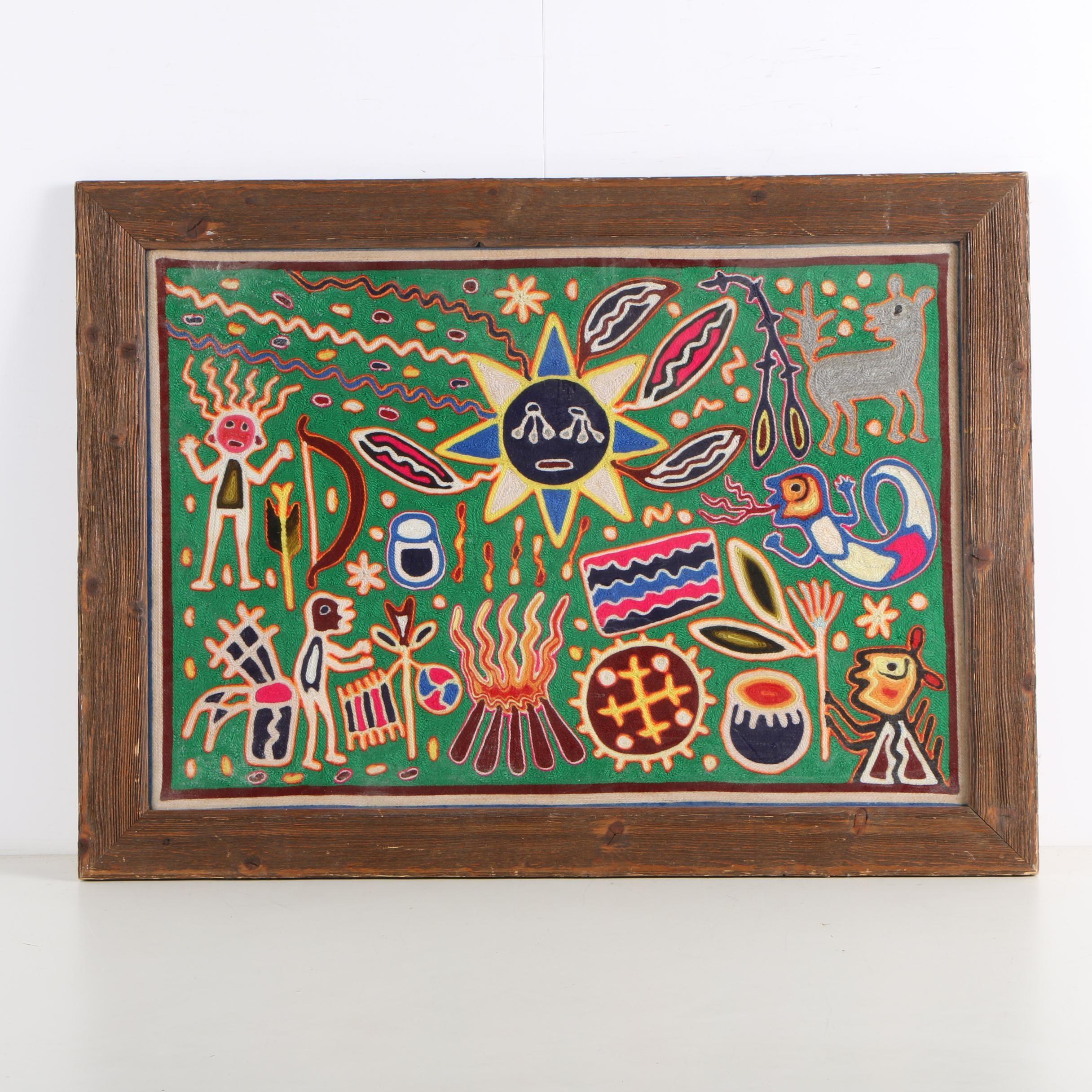 Huichol Style Yarn Painting