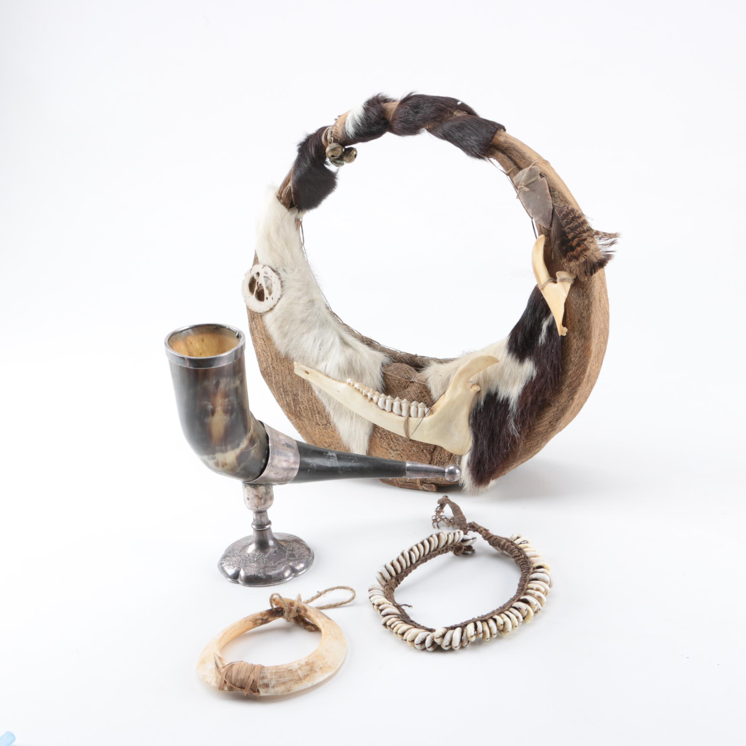 Horn and Fur Jewelry and Wall Decor