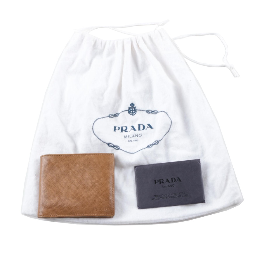 e6c271651a0283 Prada Saffiano Leather Billfold Wallet : EBTH