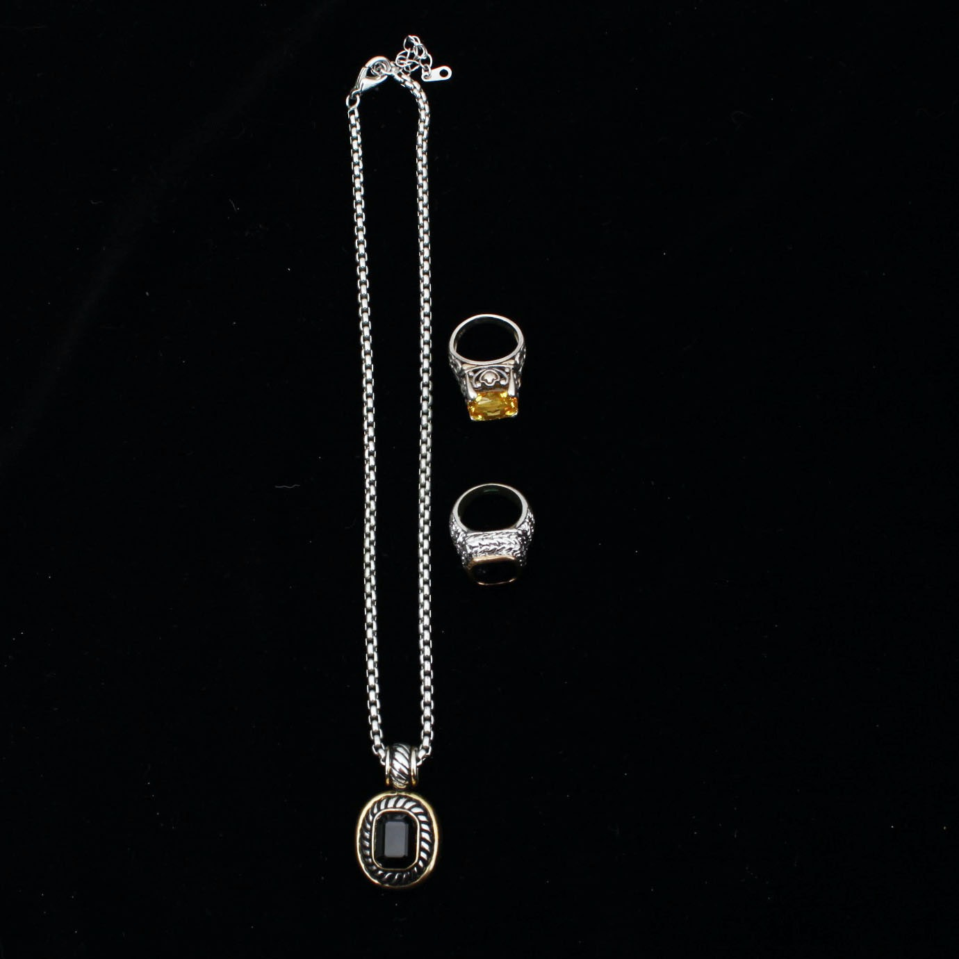 Fashionable Costume Rings and Necklace