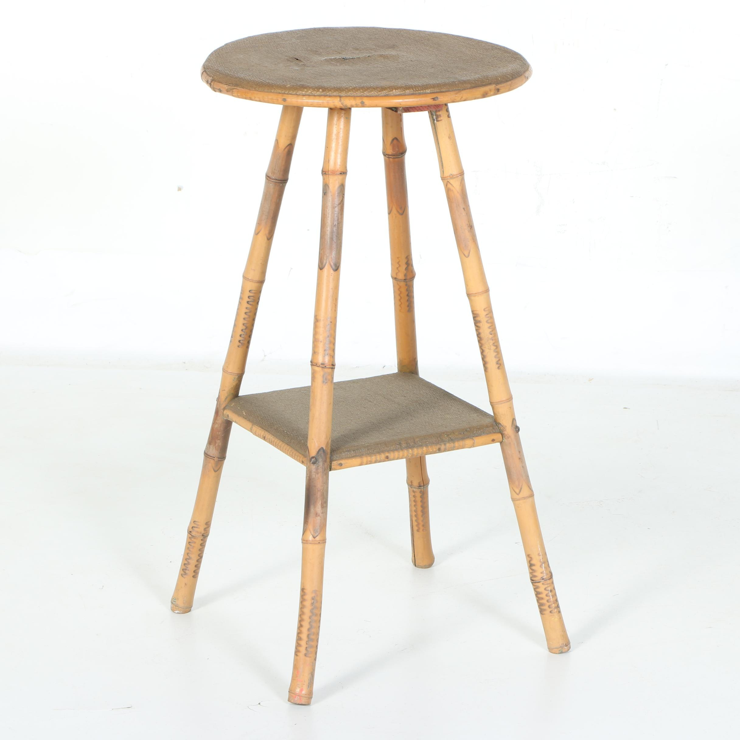 Antique Bamboo Occasional Table