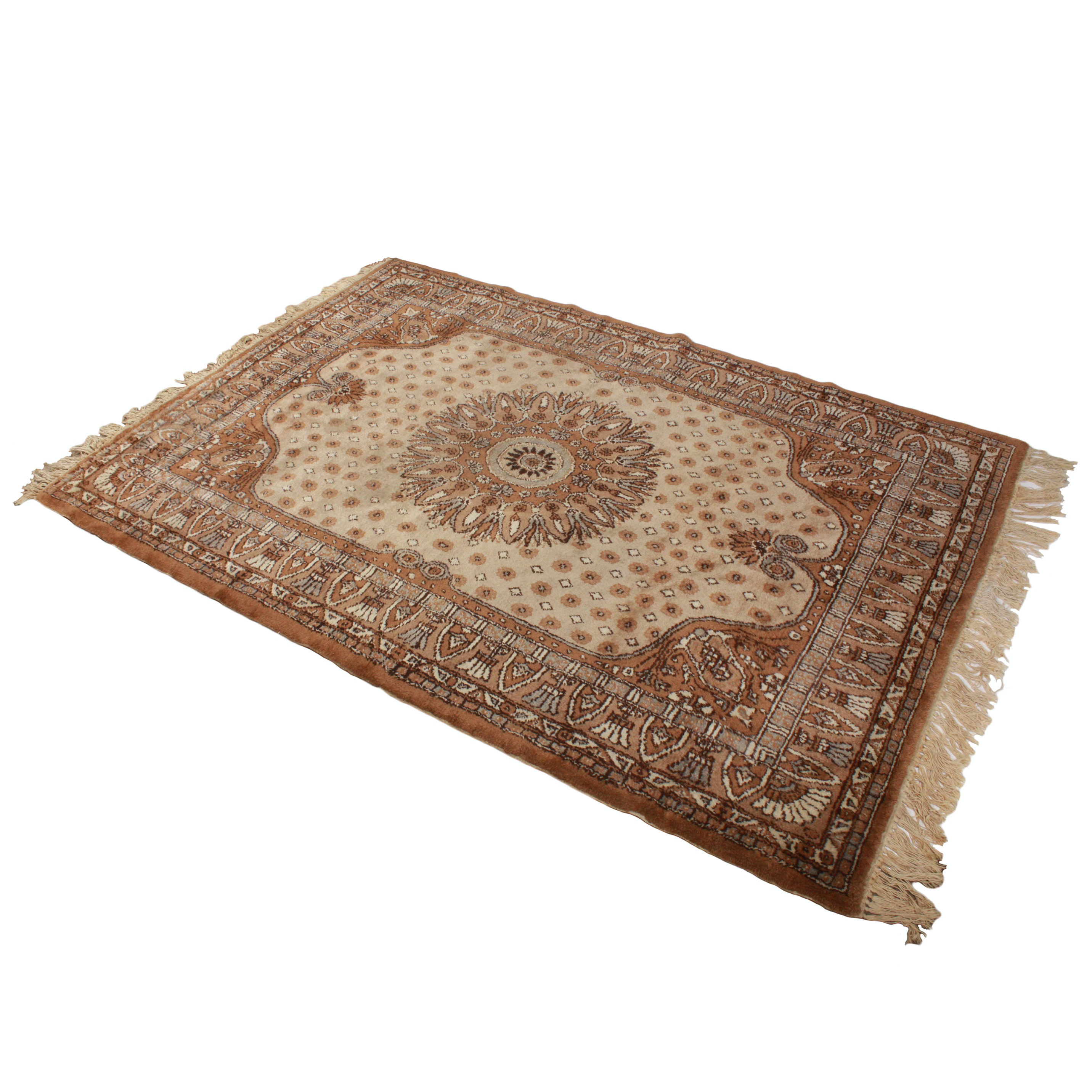 Hand-Knotted Turkish Area Rug