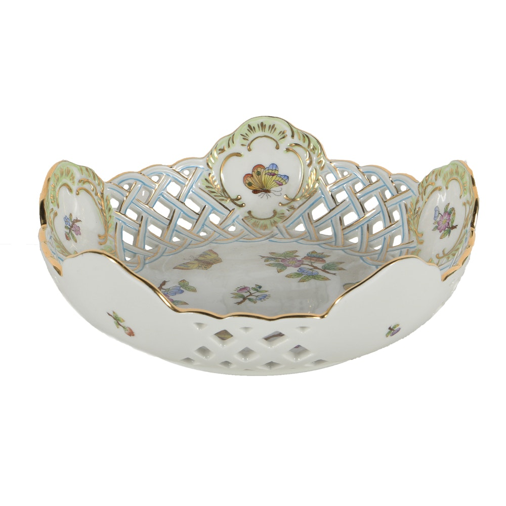 """Herend """"Queen Victoria"""" Reticulated Bowl"""