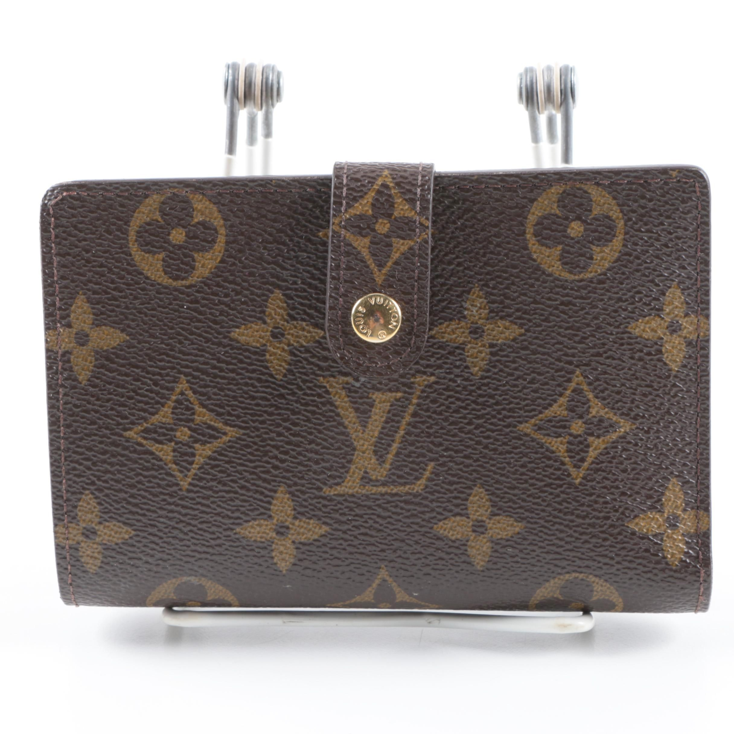 Louis Vuitton Monogram Kiss Lock Bifold Wallet