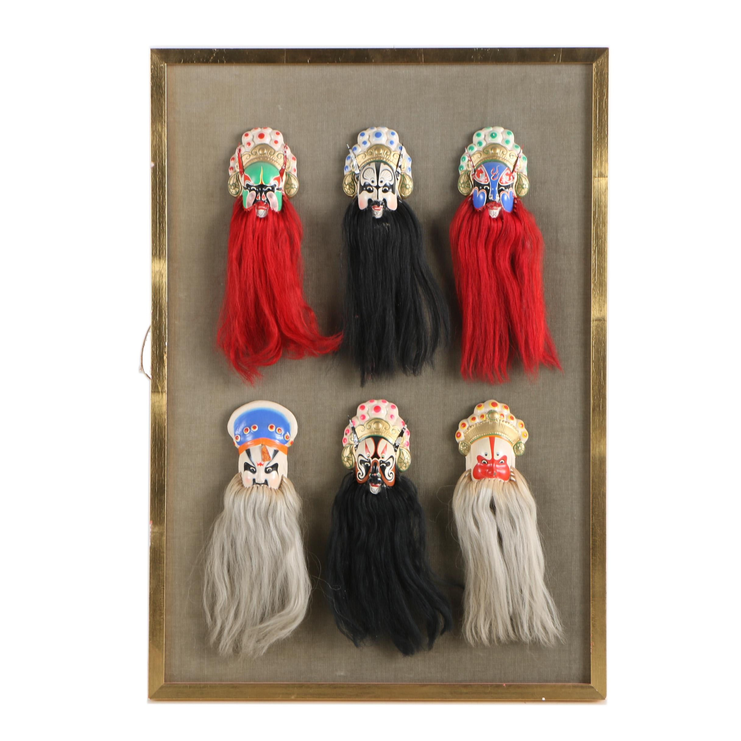 Hand Painted Resin Peking Opera Masks
