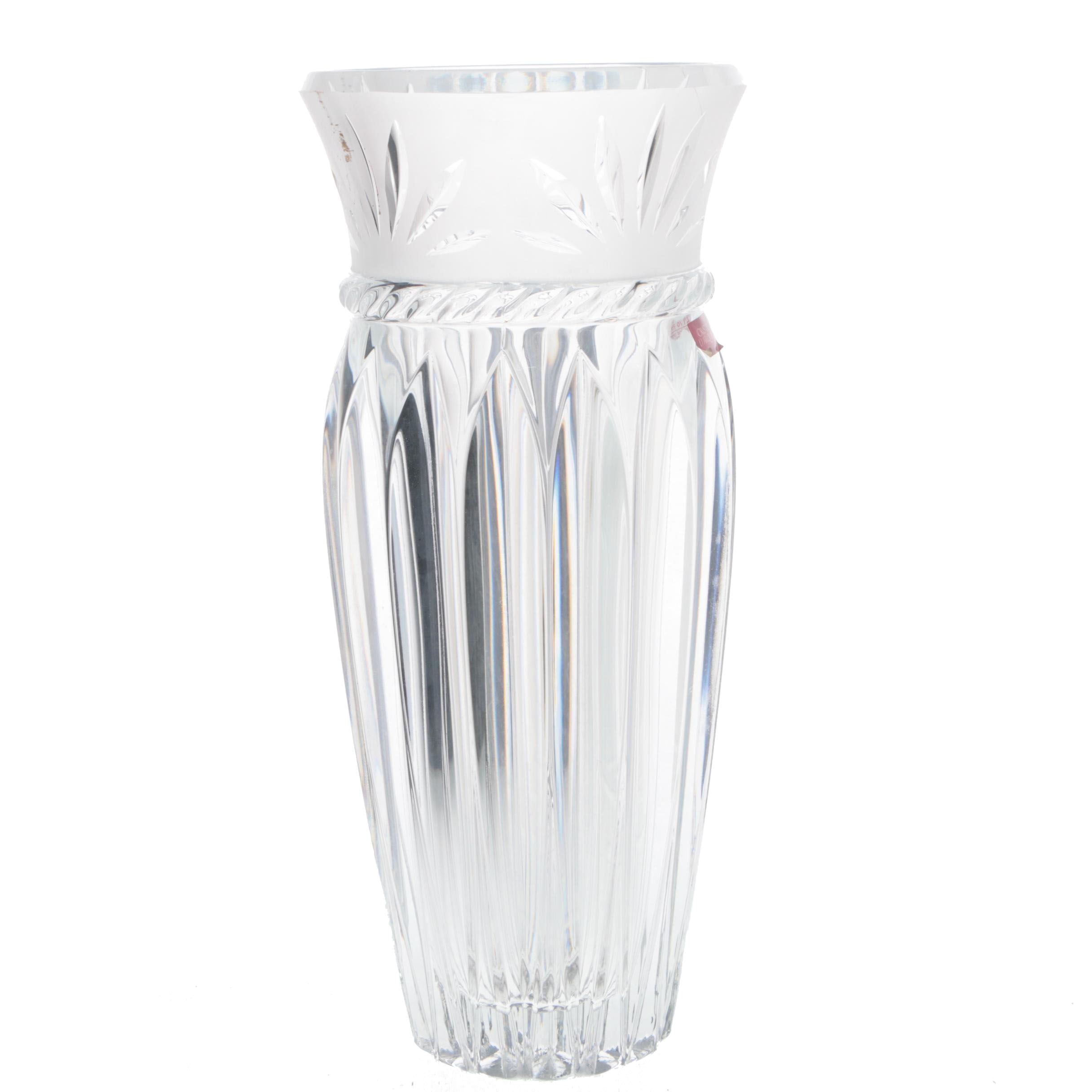 "Cristal D'Arques ""Carthage"" Crystal Vase"
