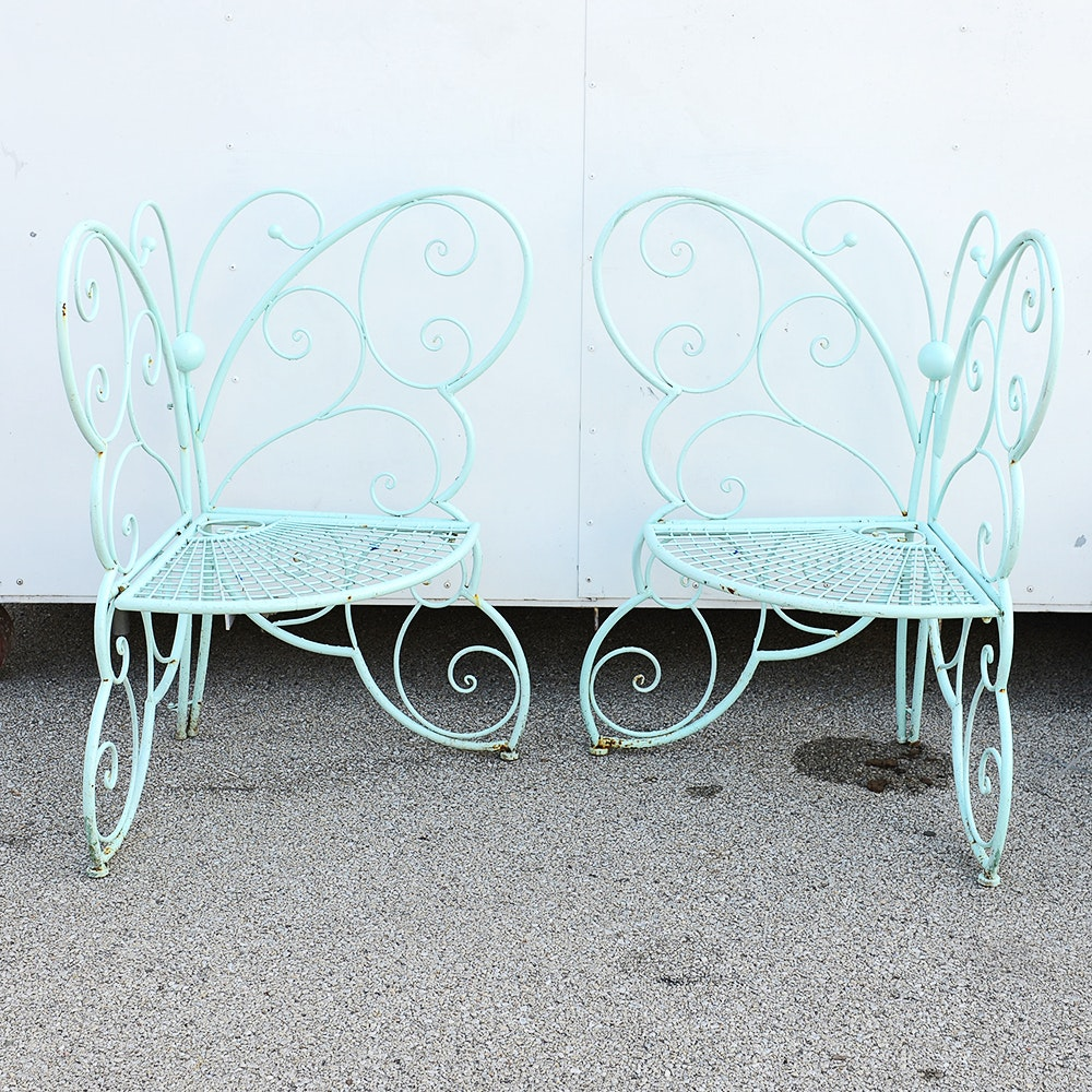 Nice Metal Folding Butterfly Patio Chairs ...