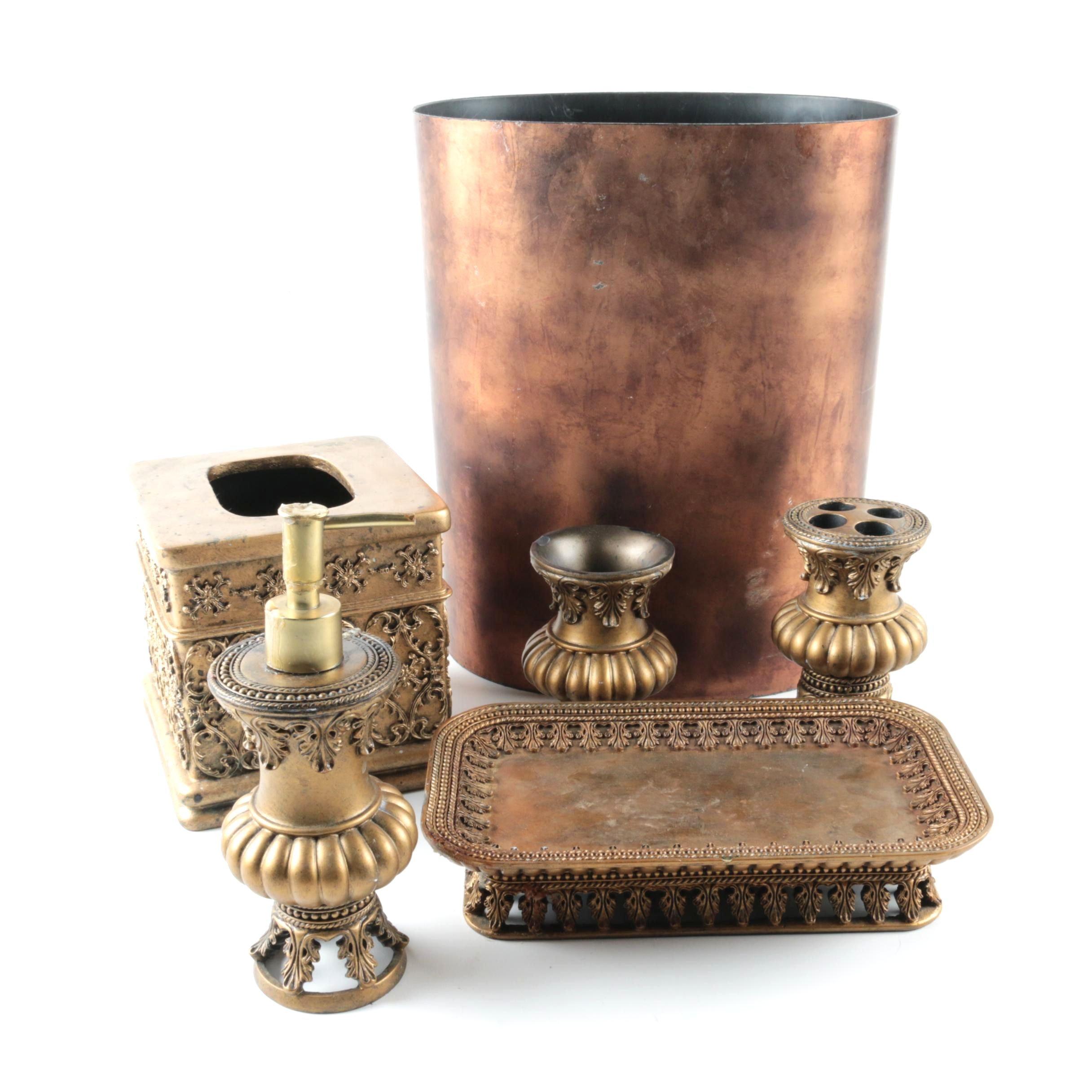 Bronze Tone Bathroom Accessories