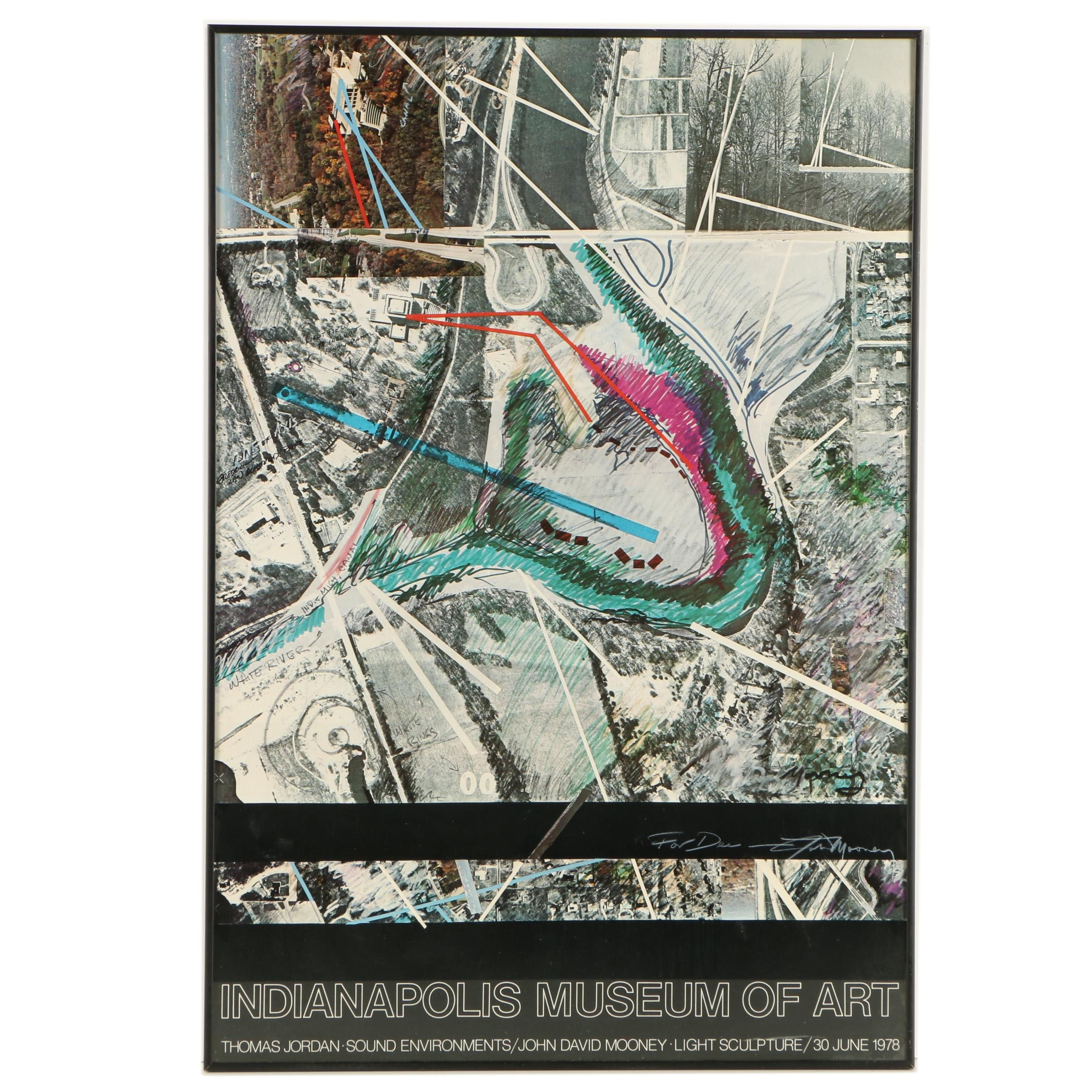 John David Mooney Signed Indianapolis Museum of Art Exhibition Poster