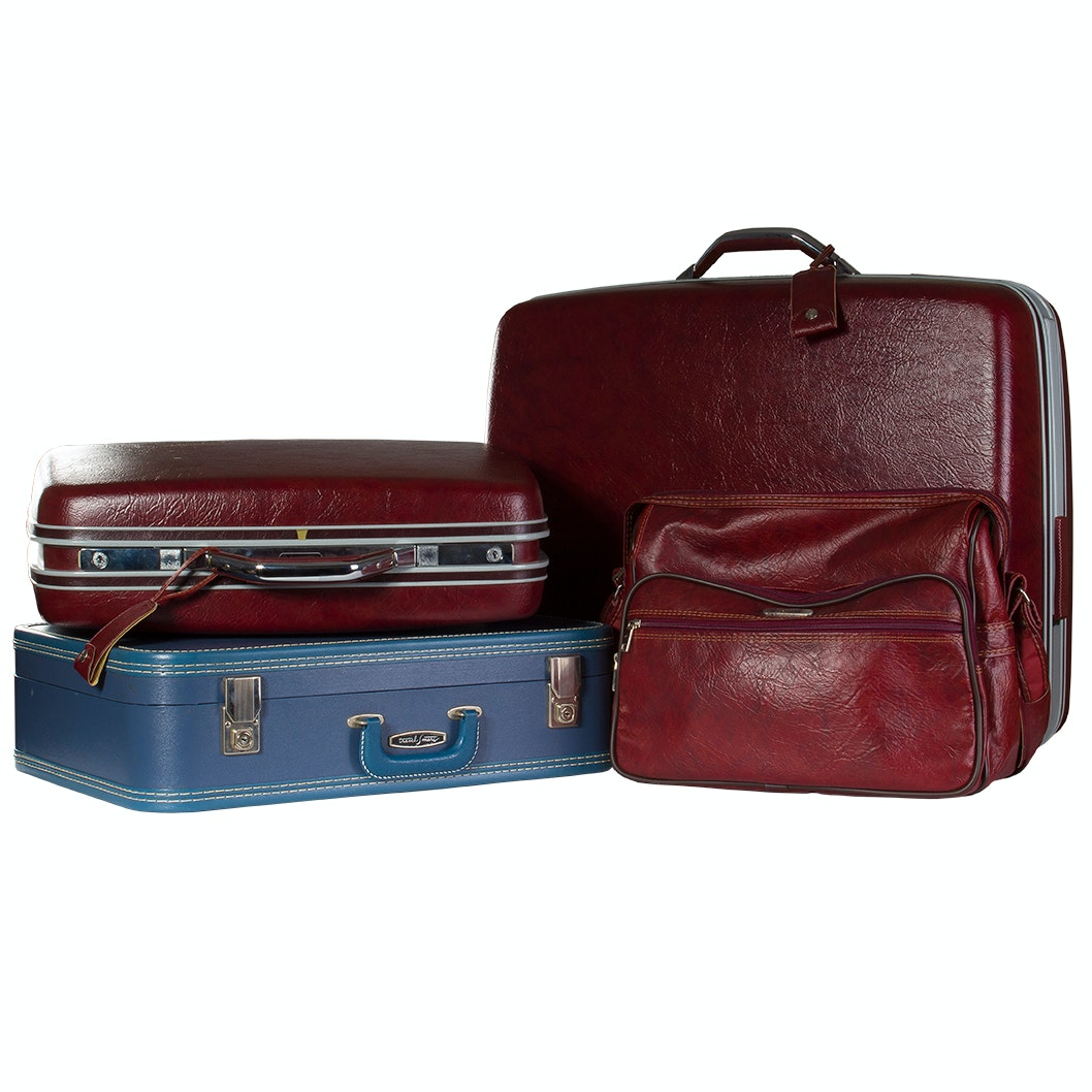 Vintage Samsonite and Travel Smart Luggage