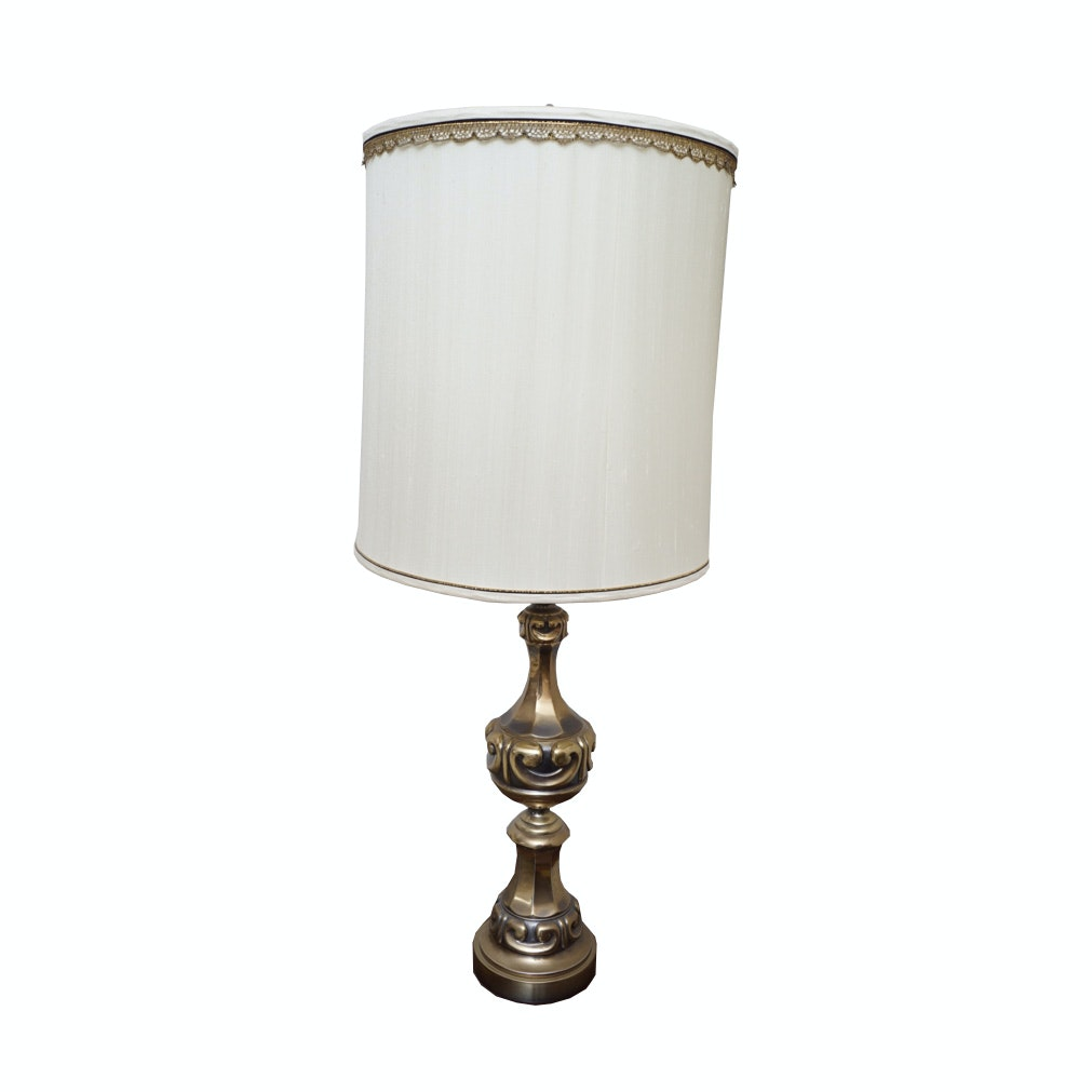 Vintage Brass Urn Table Lamp