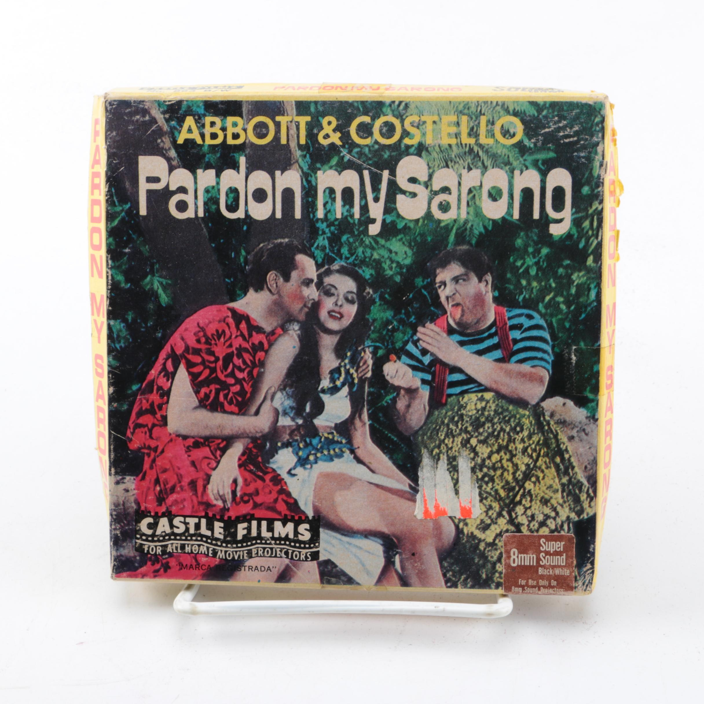 "Abbott & Costello ""Pardon My Sarong"" 8MM Film"