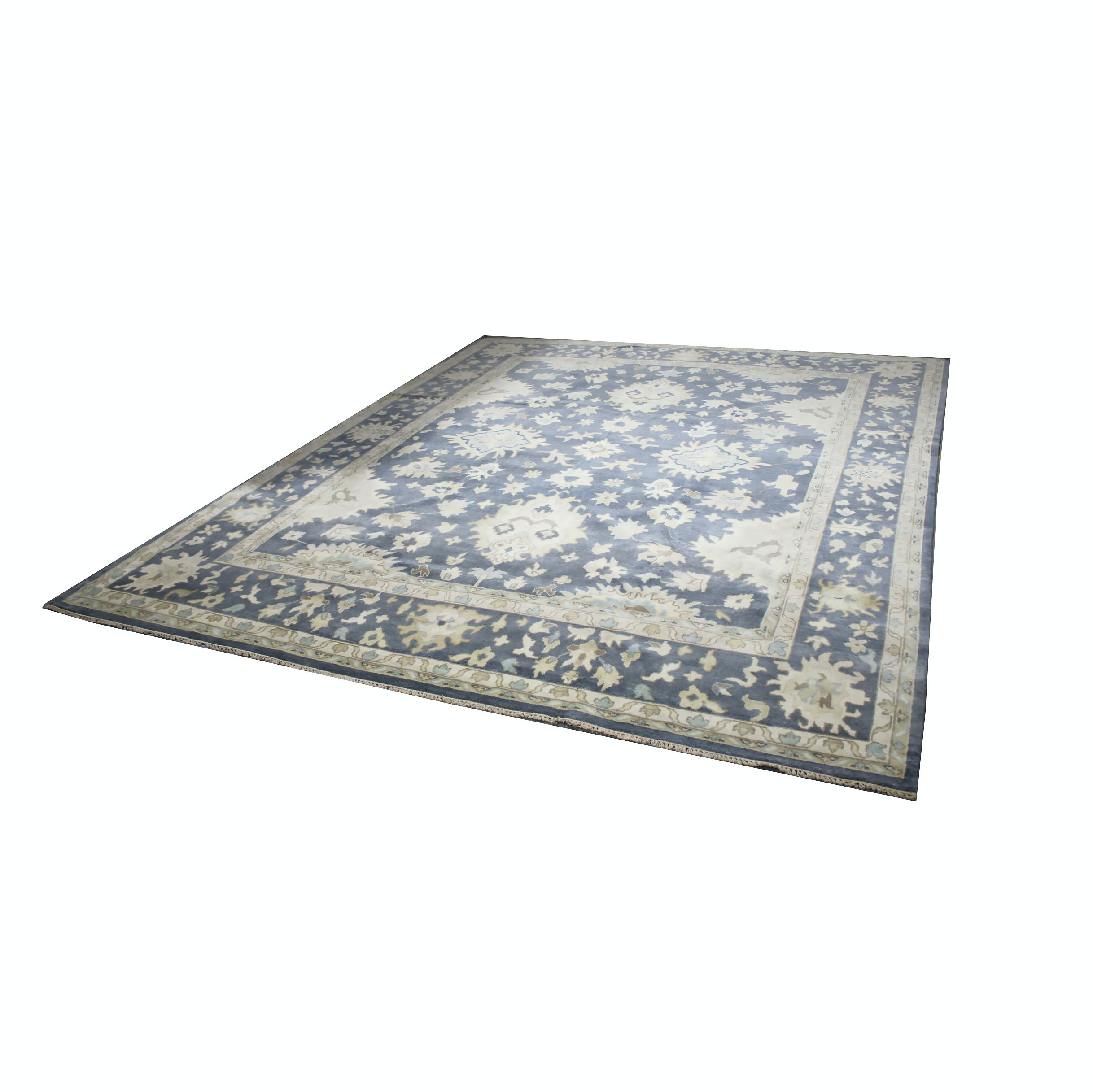 Large Hand-Knotted Indo-Oushak Area Rug
