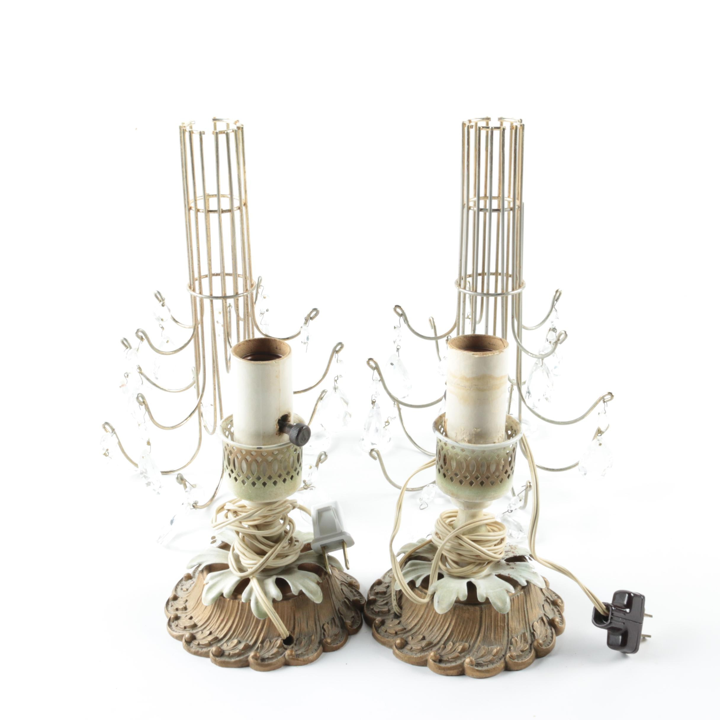 Vintage Candle Holder Accent Lamps