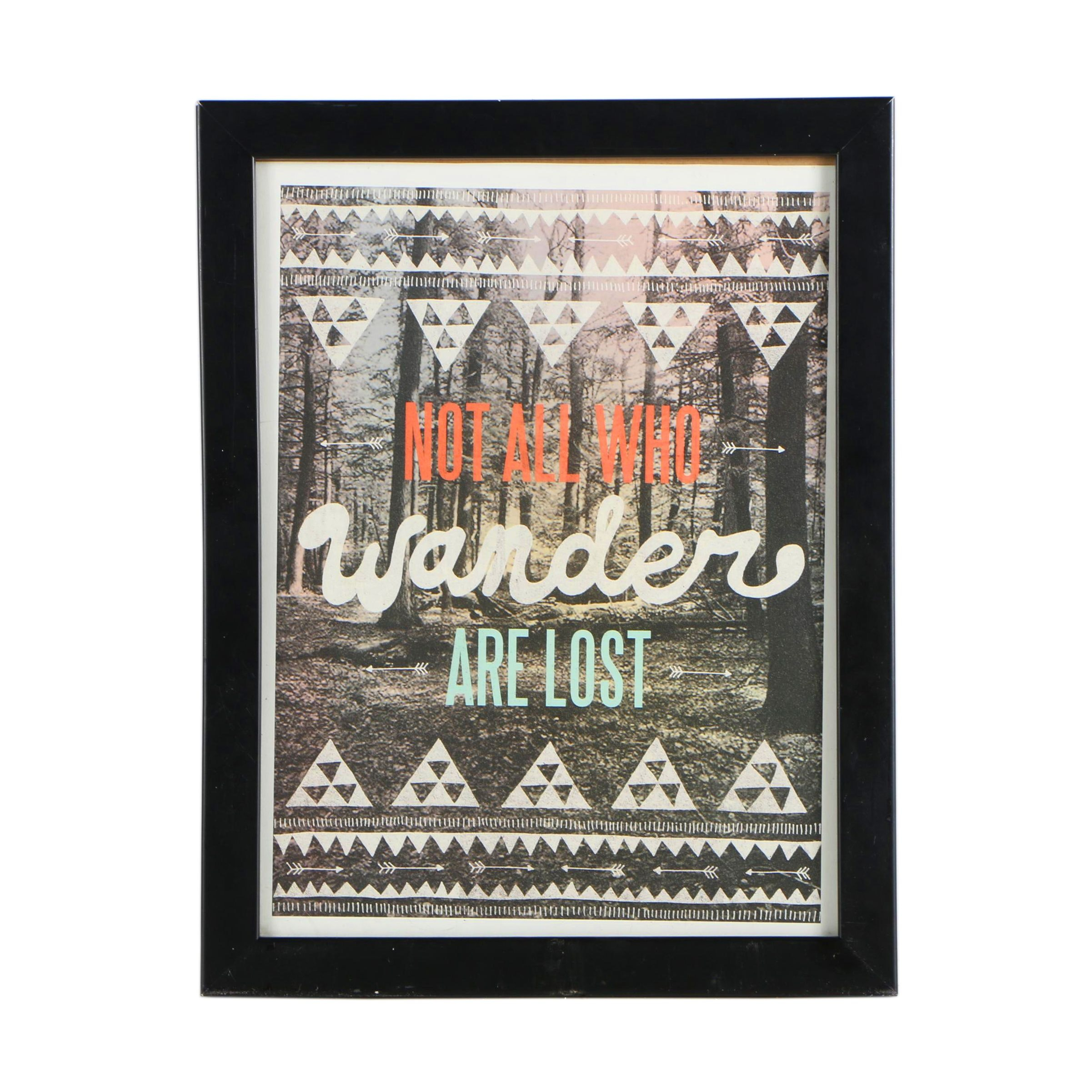 """Contemporary Offset Lithograph After Wesley Bird """"Not All Who Wander Are Lost"""""""