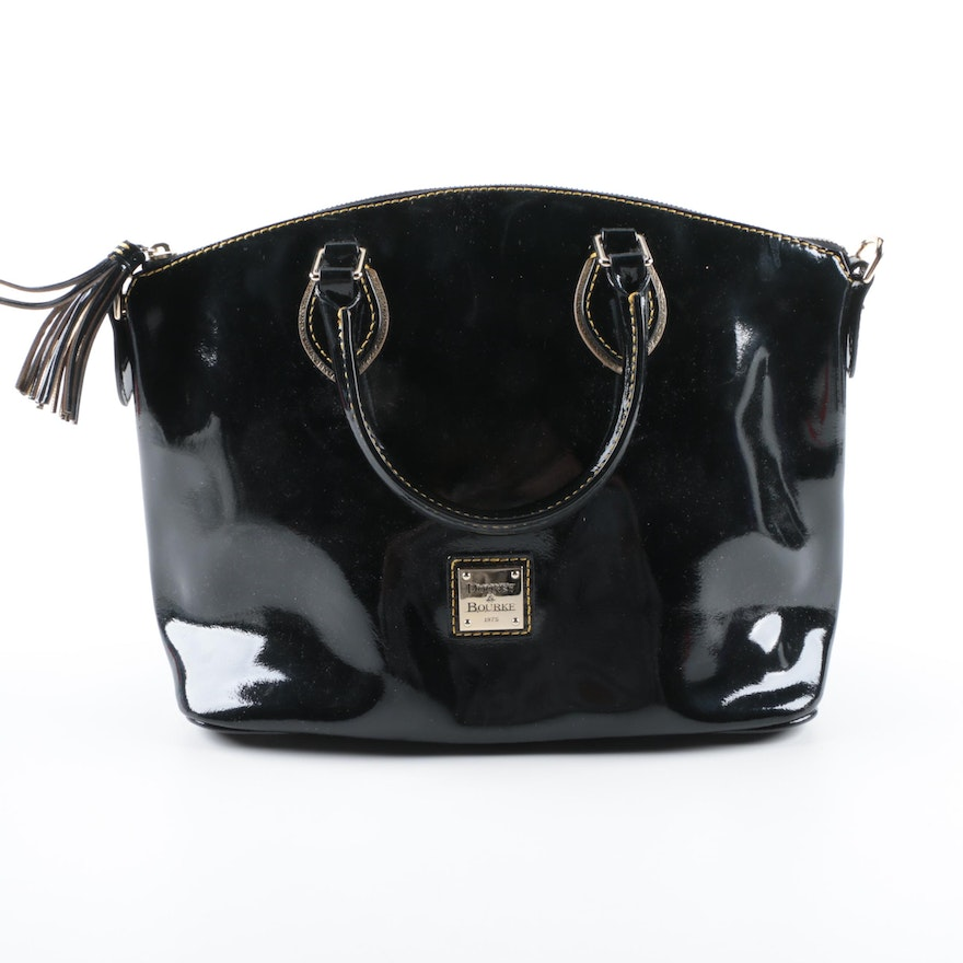 Dooney Bourke Black Patent Leather Handbag