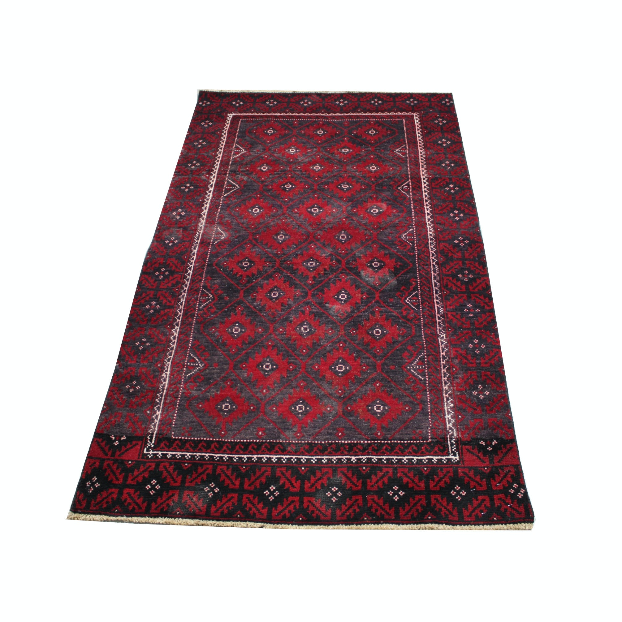 Hand-Knotted Persian Turkmen Area Rug