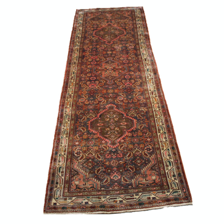 Hand-Knotted Persian Viss Heriz Carpet Runner
