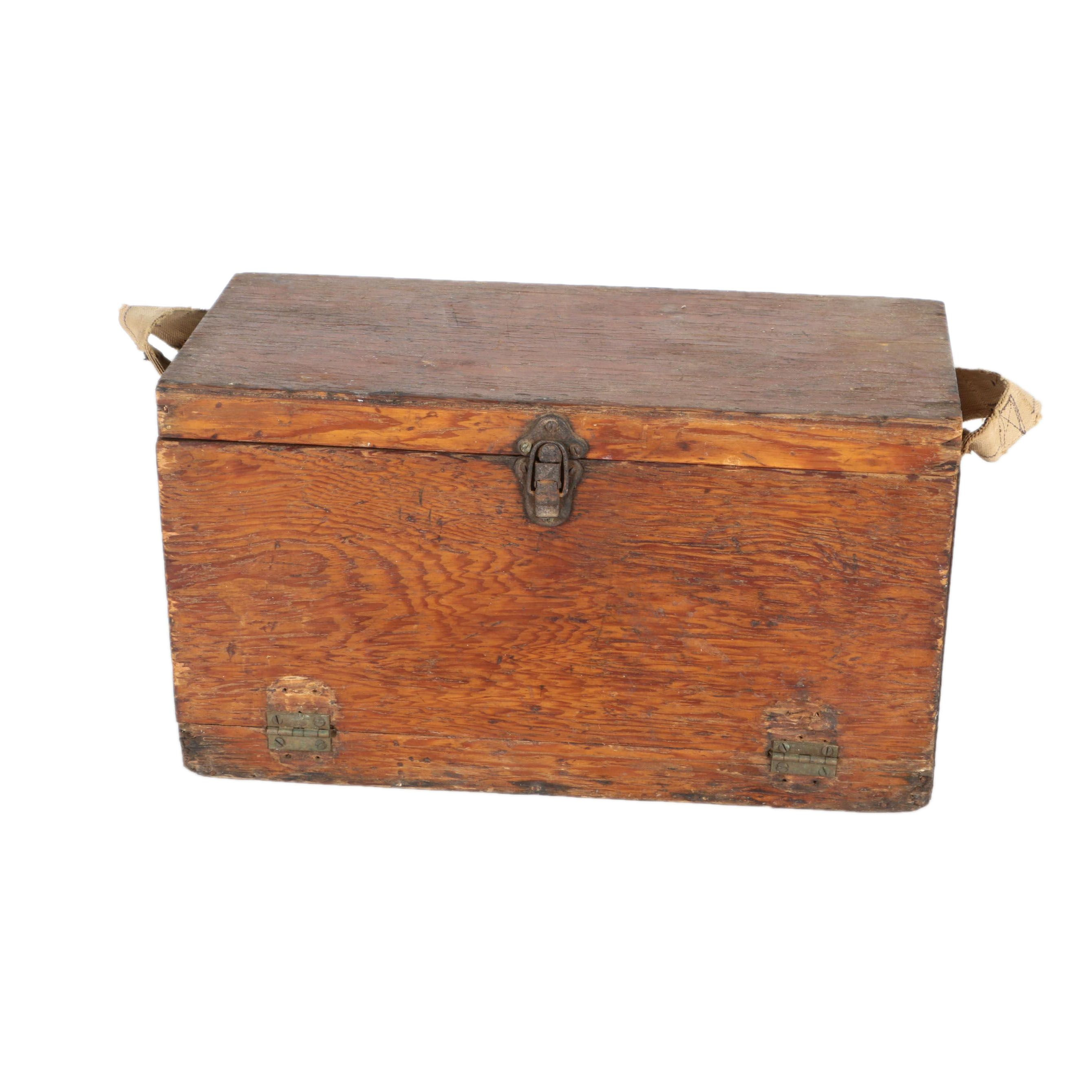 Vintage Wooden Machinist's Tool Box
