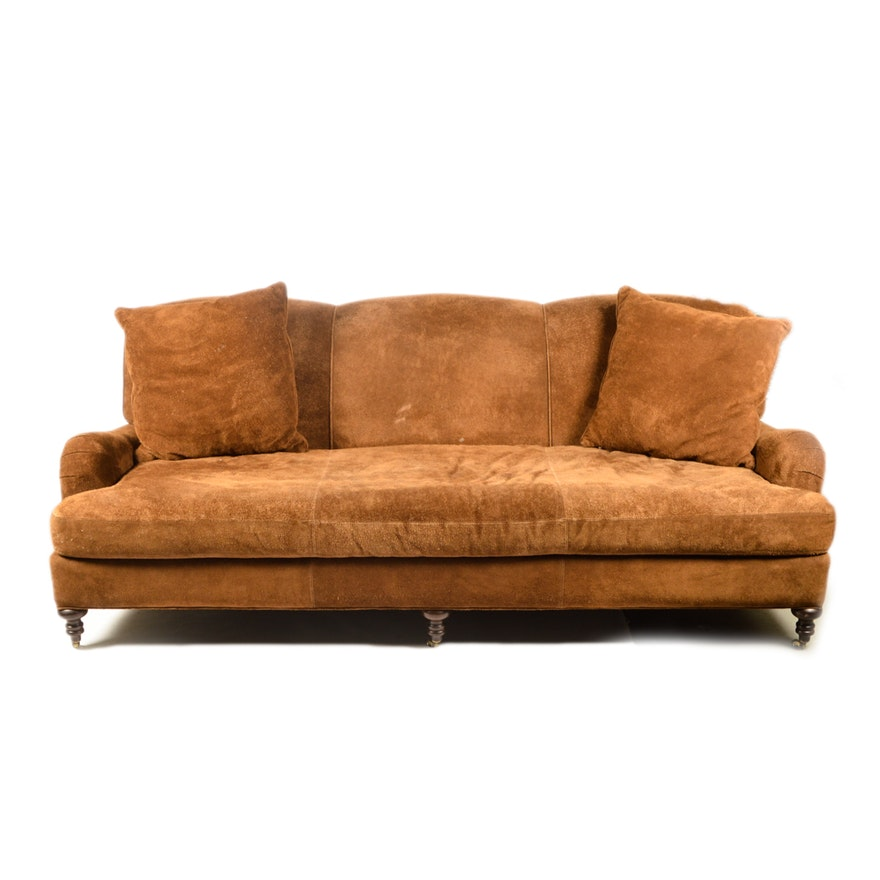 Brown Suede Sofa from Lee Industries
