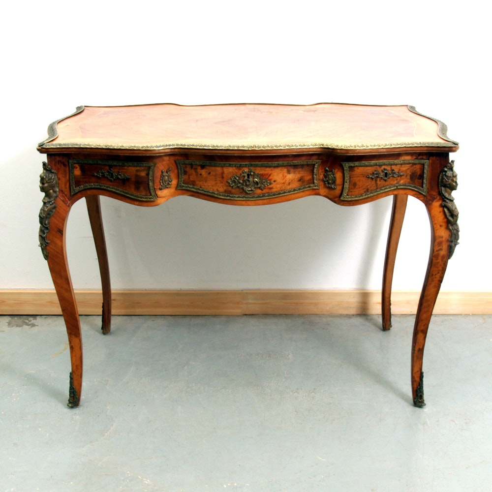 Louis XV Style Desk With Ormolu Bronze Mounts