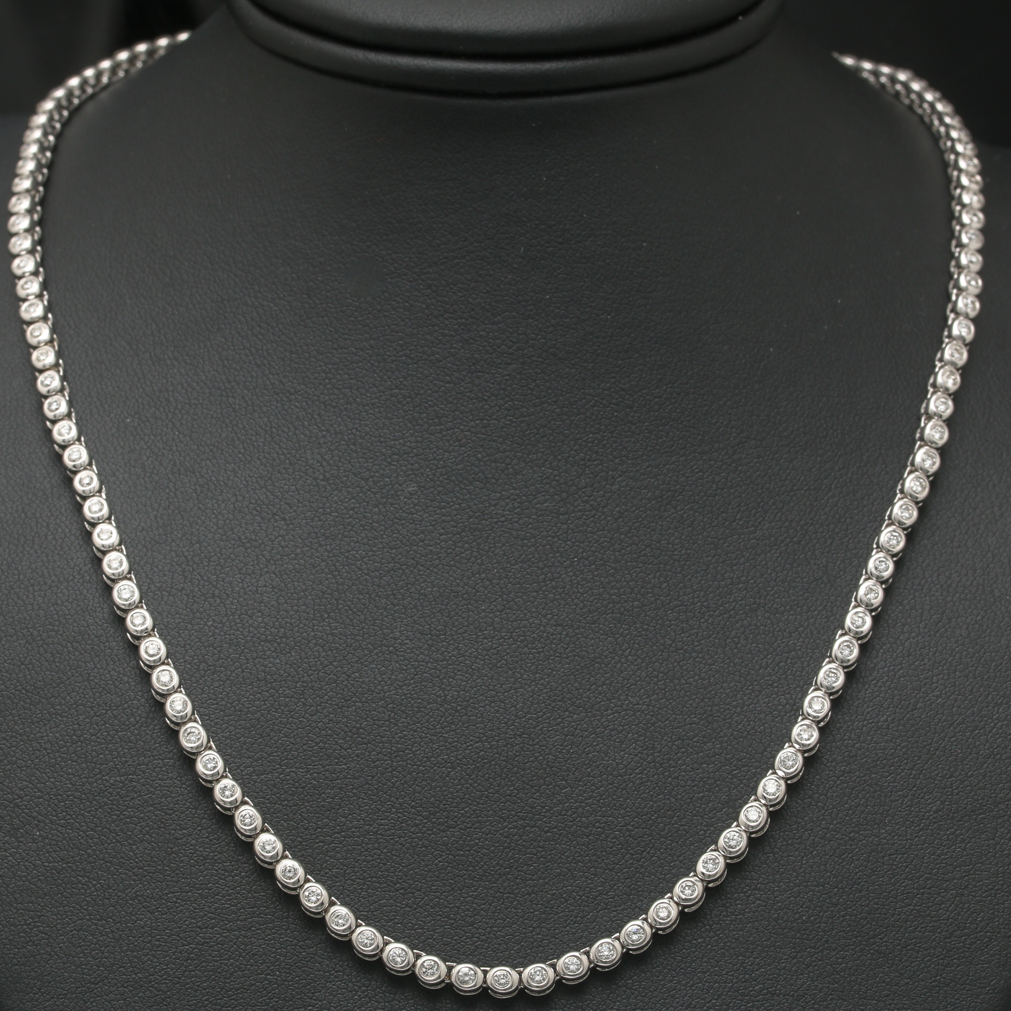 14K White Gold 3.51 CTW Diamond Necklace
