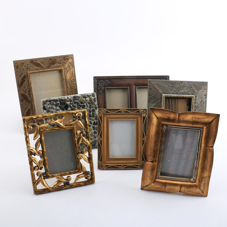 Assorted Picture Frames Featuring Pottery Barn Ebth