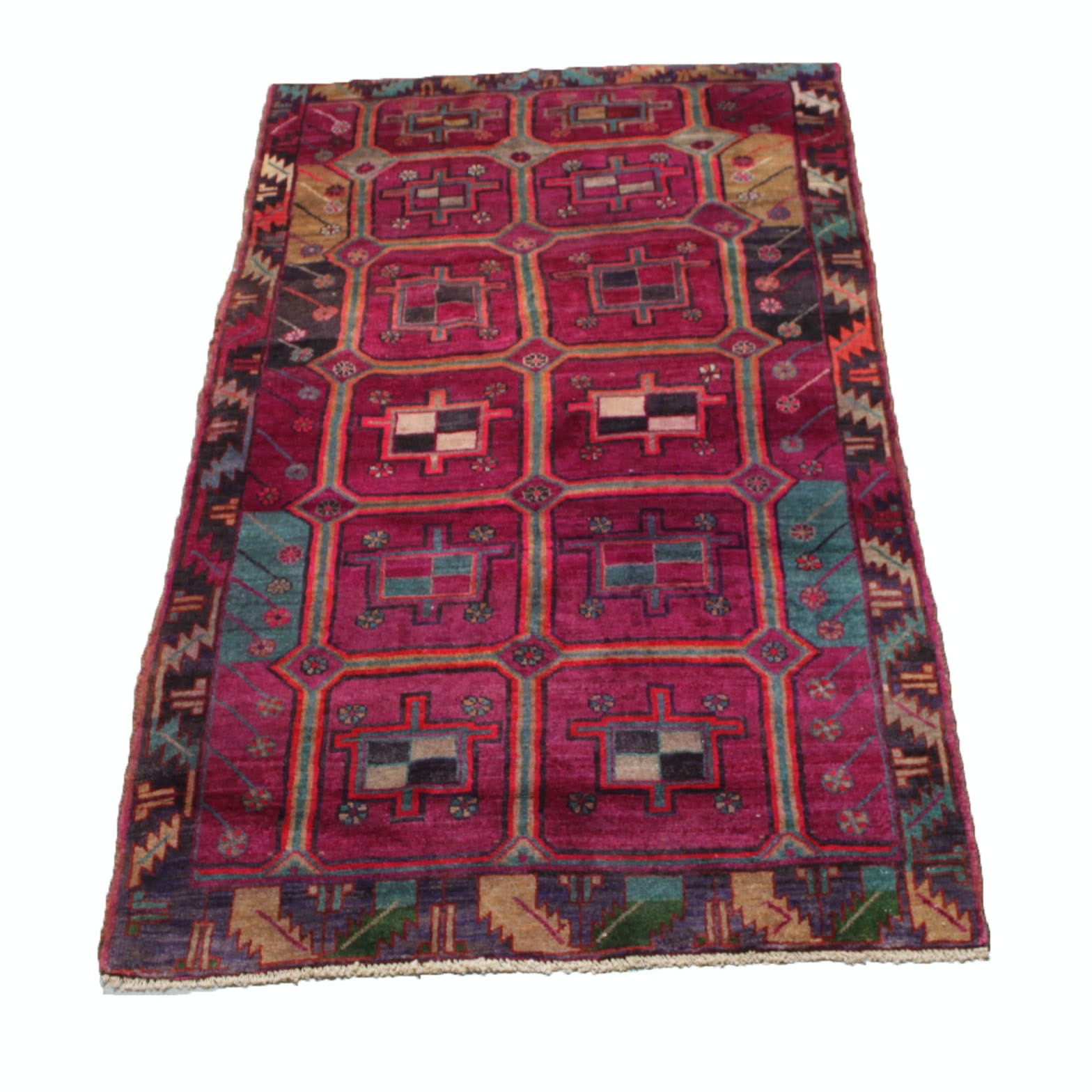 Hand Knotted Persian Qashqai Area Rug
