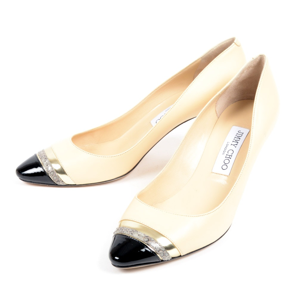 Jimmy Choo Swan Mix Pumps
