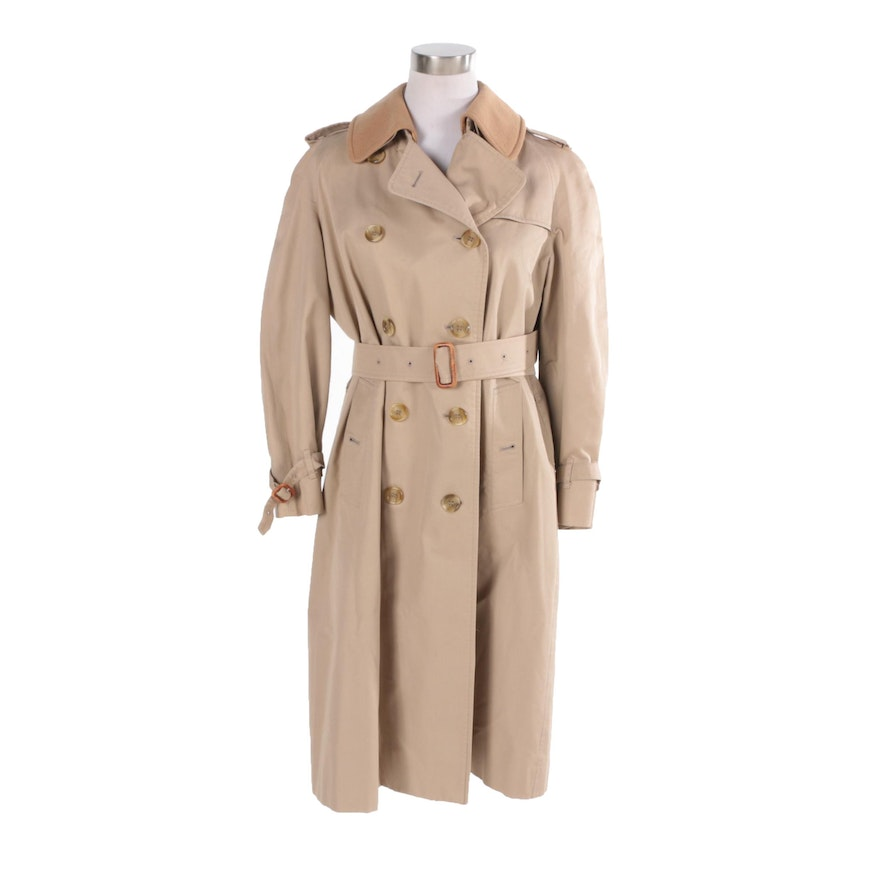 6af383cf6ab Womens 1980s Burberry Trench Coat with Removable Wool Lining   EBTH