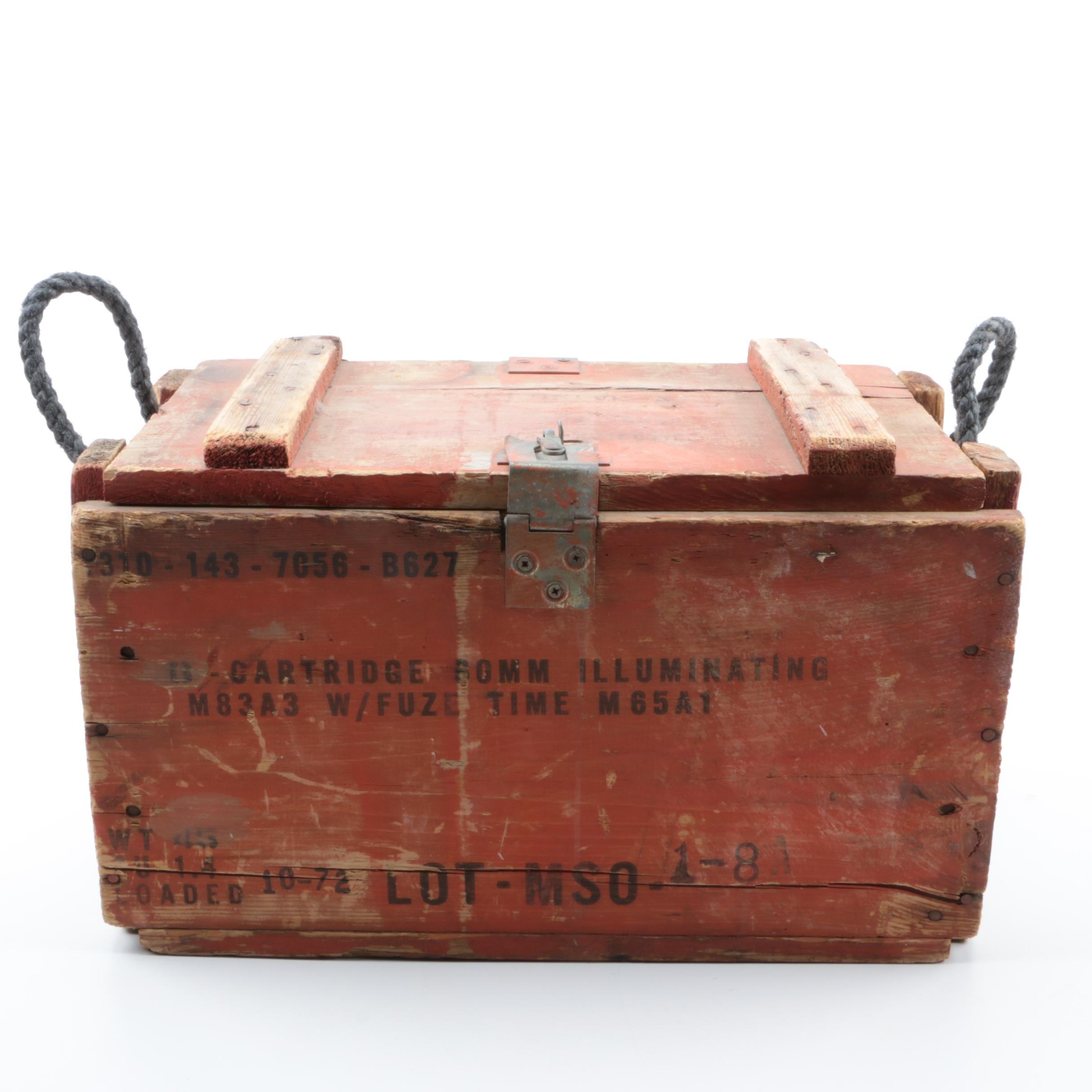 Vintage Wooden Armaments Crate