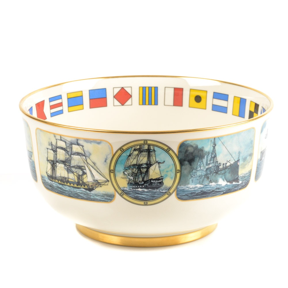 "1989 Pickard ""United States Navy Memorial"" Porcelain Collector's Bowl"